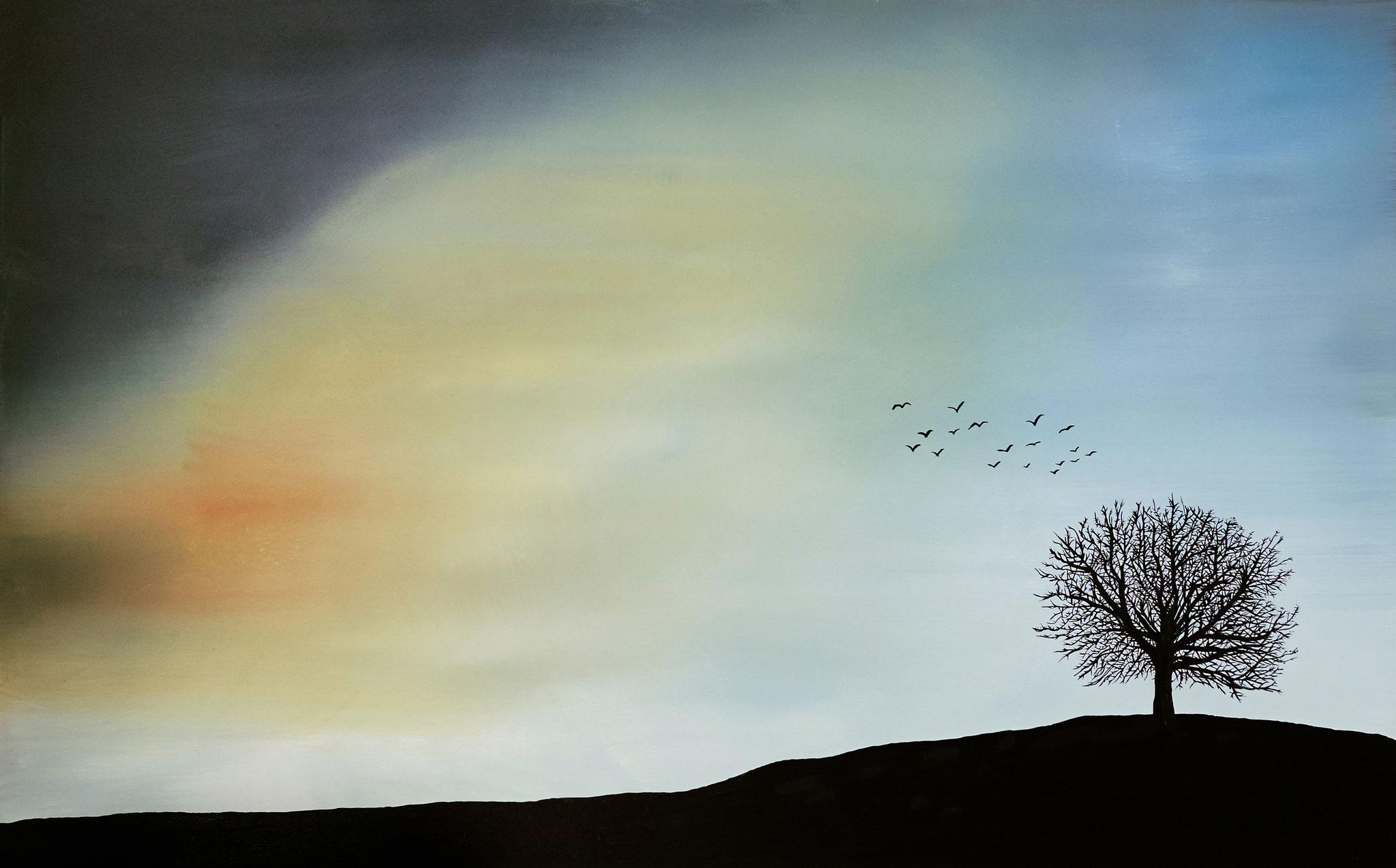 ›Dämmerung‹, Acryl auf Leinwand, 160 x 100 cm, 2016