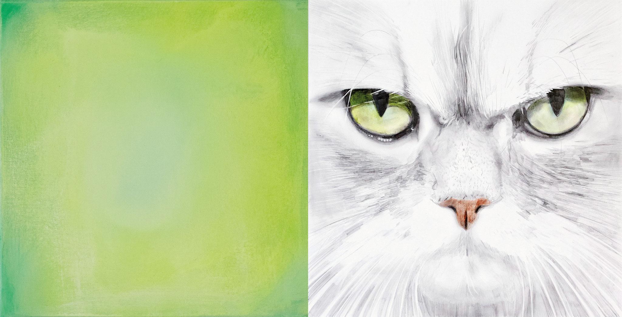 ›Cat Mood‹, Acryl auf Leinwand, 80 x 40 cm, 2016