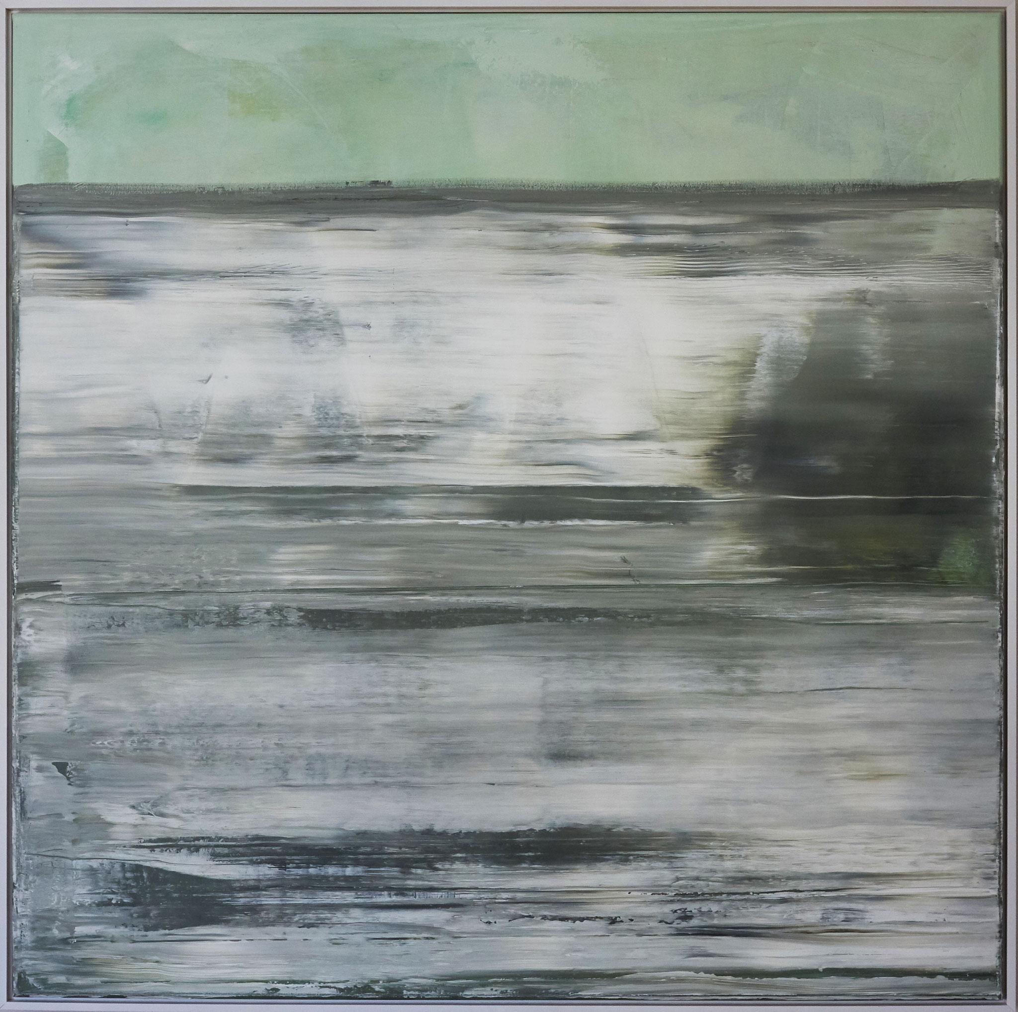 ›Green Sea‹, Acryl auf Leinwand, 100 x 100 cm, 2017