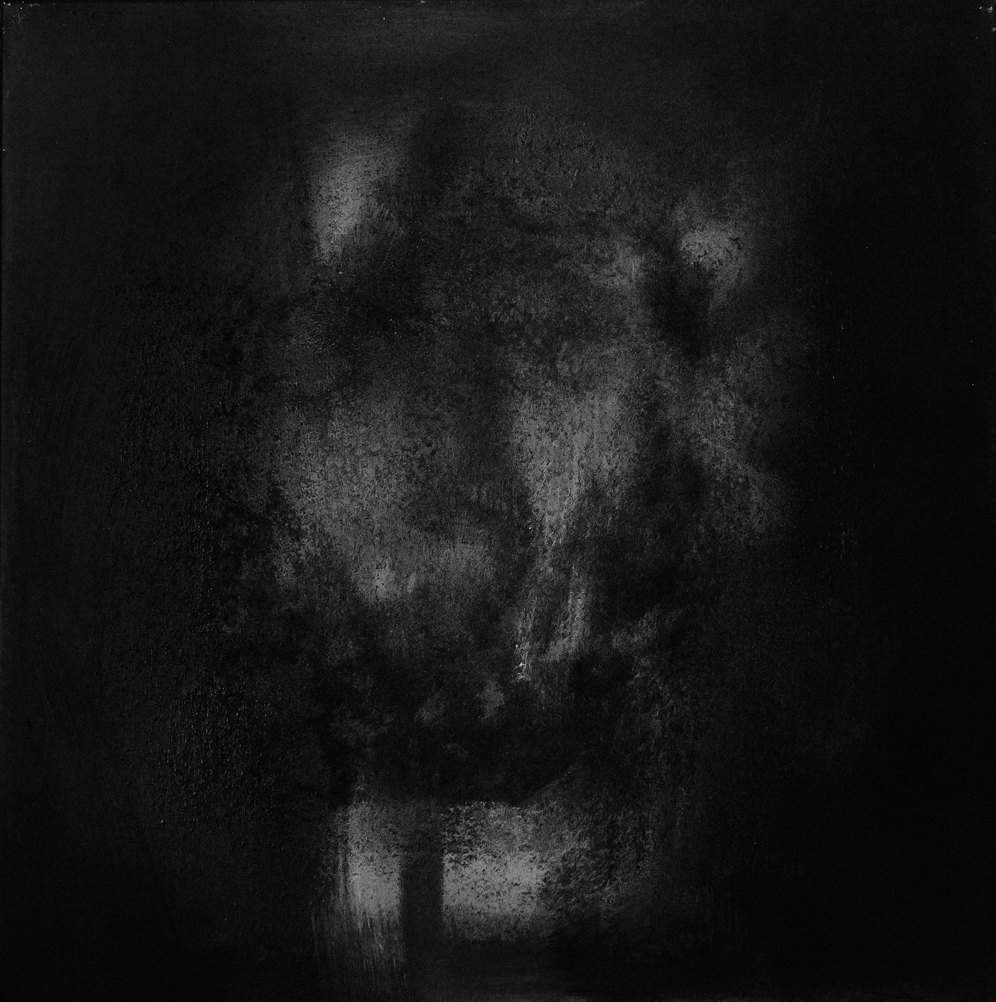›Death‹, Acryl auf Leinwand, 100 x 100 cm, 2016