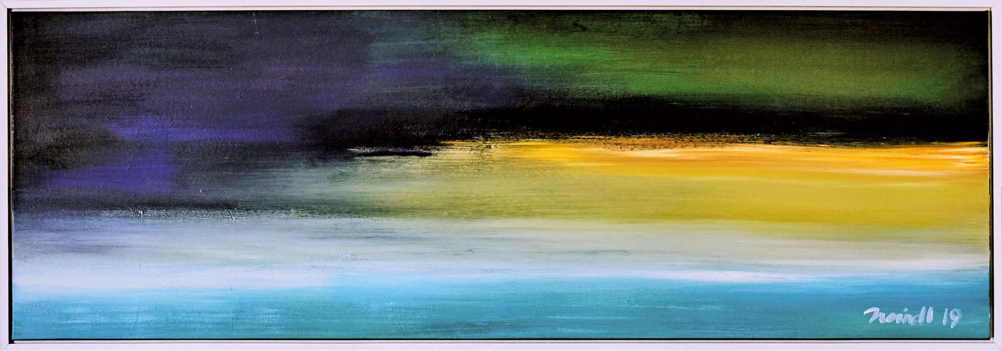 ›Landschaft‹, Acryl auf Leinwand, 123 x 43 cm, 2019