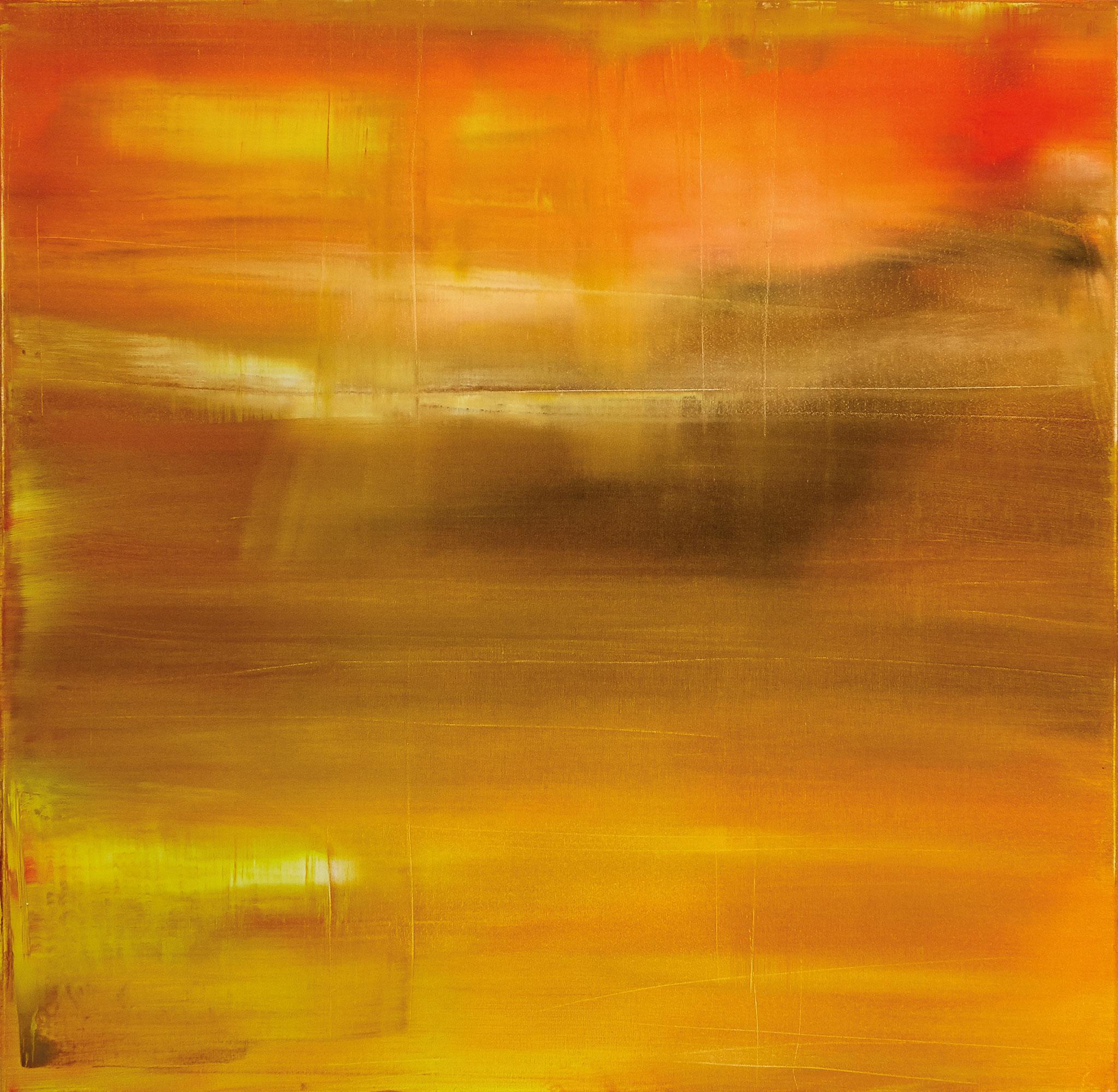 ›Life / Sun‹, Acryl auf Leinwand, 100 x 100 cm, 2016