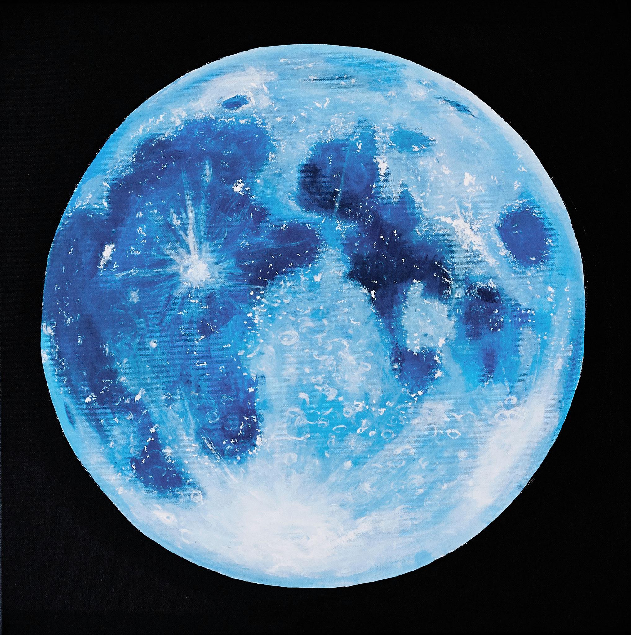 ›Blue Moon‹, Acryl auf Leinwand, 50 x 50 cm, 2017