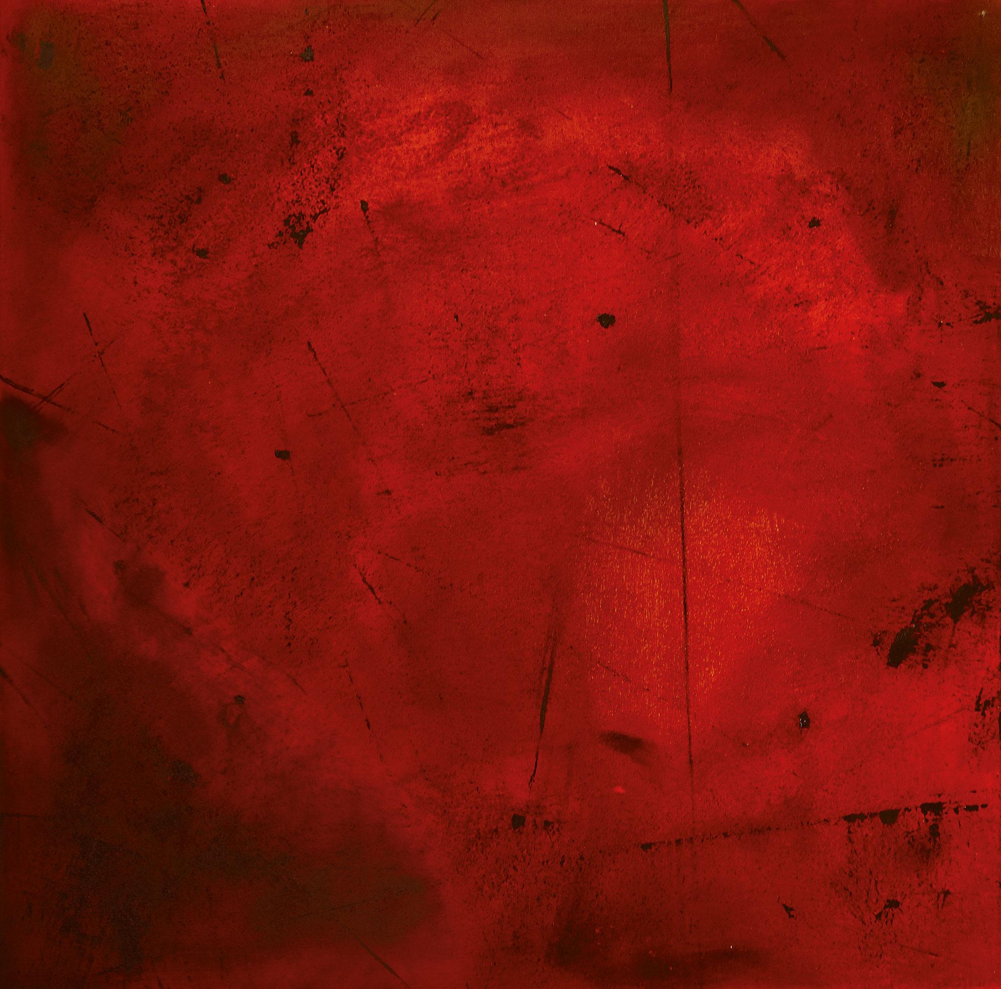 ›War / Desperation‹, Acryl auf Leinwand, 100 x 100 cm, 2016
