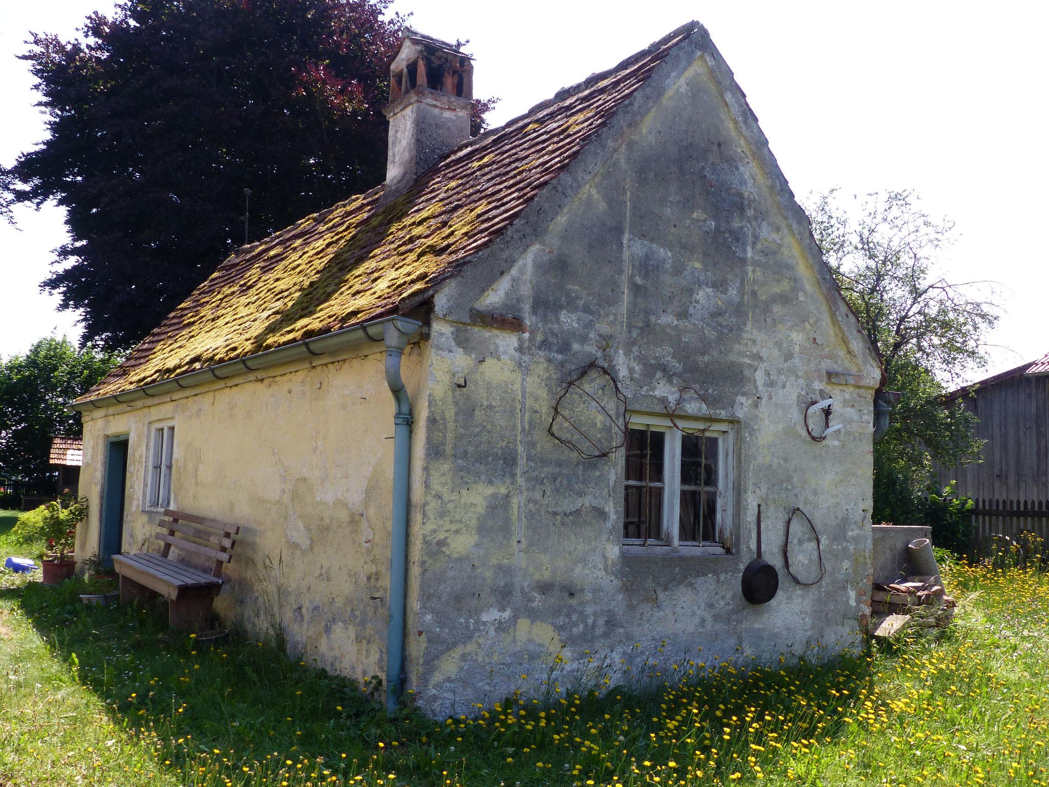 Das alte Waschhäuschen im Garten