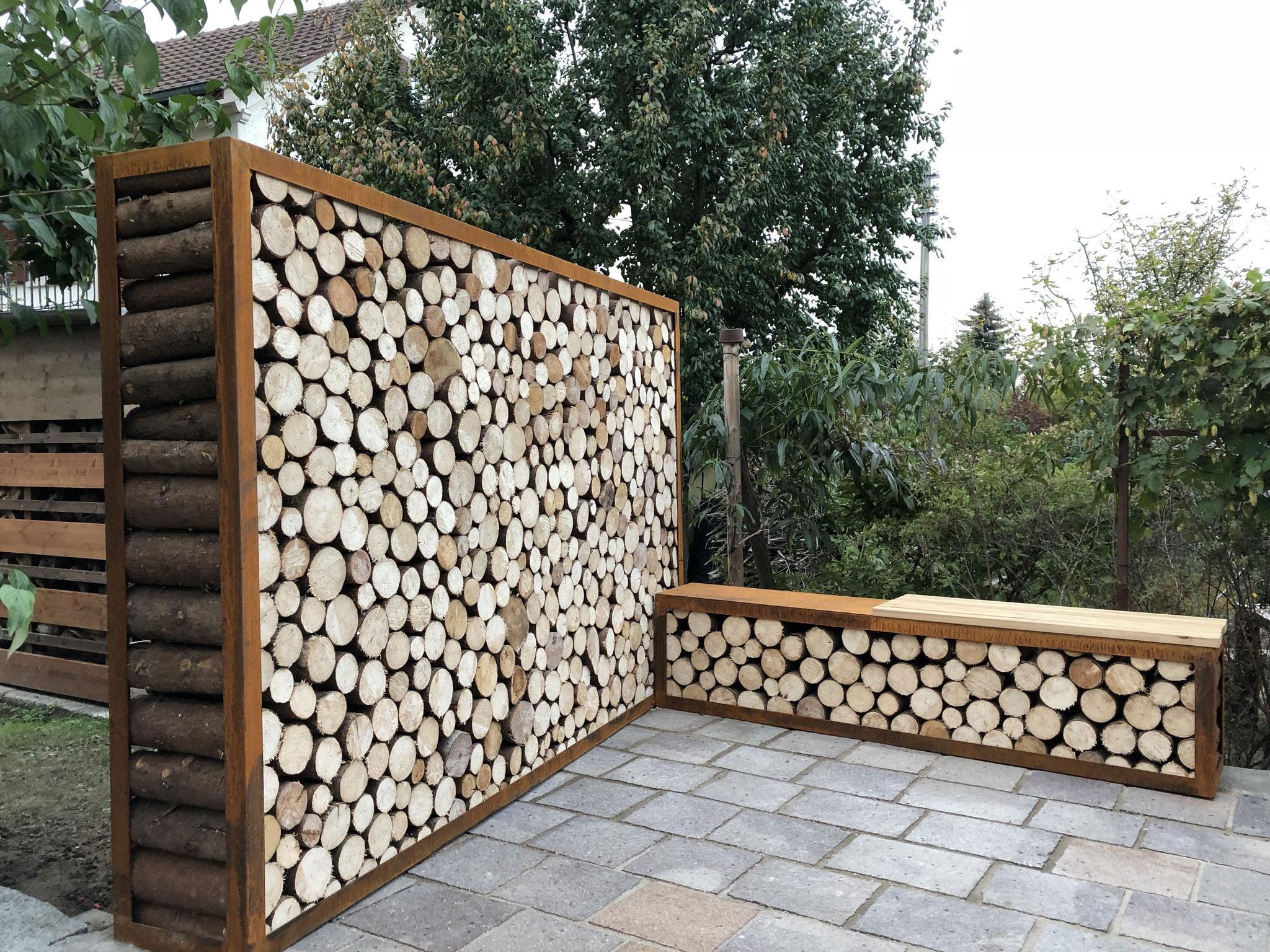 Sichtschutz Und Holzlager Ernst Morger S Sichtschutz Mit Holz