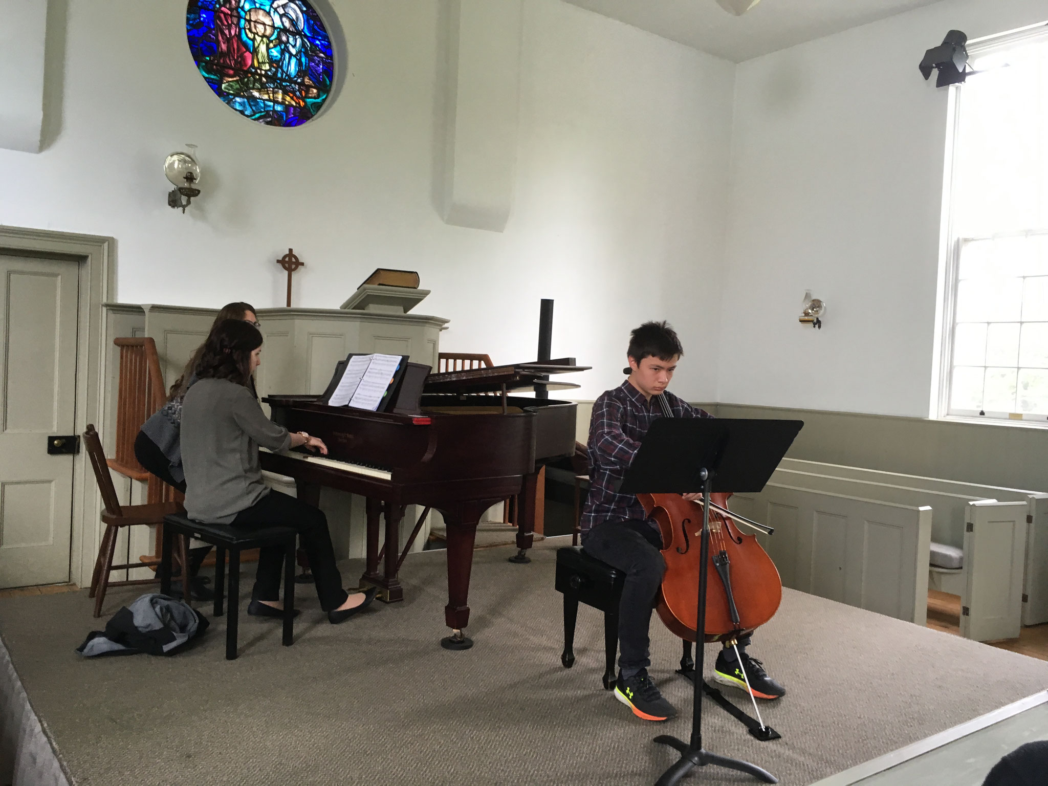 Cellist Jeffrey Paik, accompanied by Bethany Matthews, performed two works.
