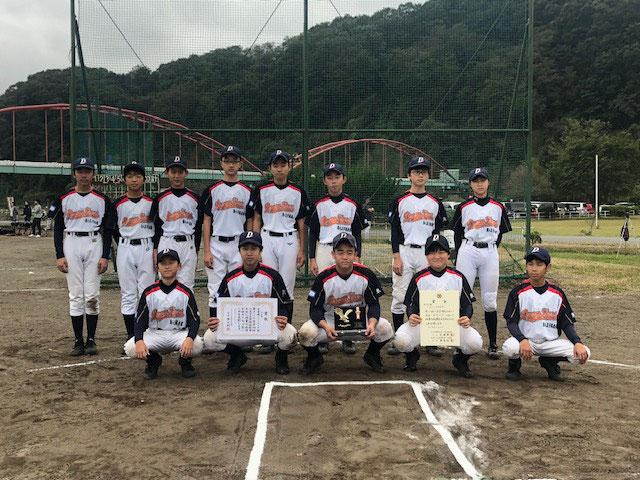 第44回 八王子市少年軟式野球 秋季大会 準優勝 南八王子俱楽部 令和元年11月3日