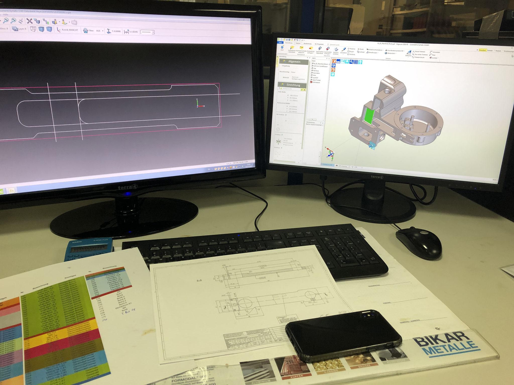 CAD Arbeitsplatz/Konstruktion