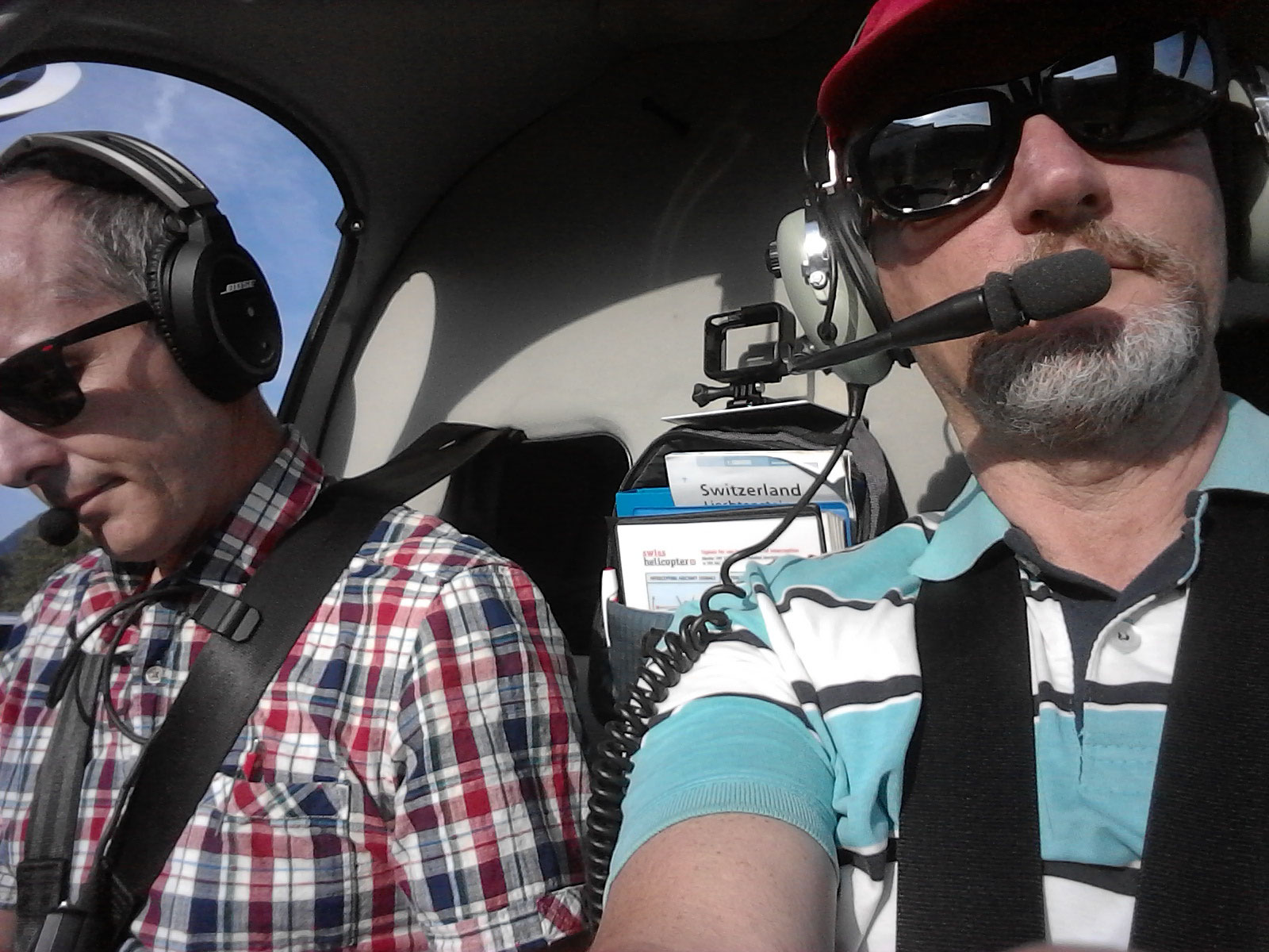 Mit meinem Bruder im Helikopter