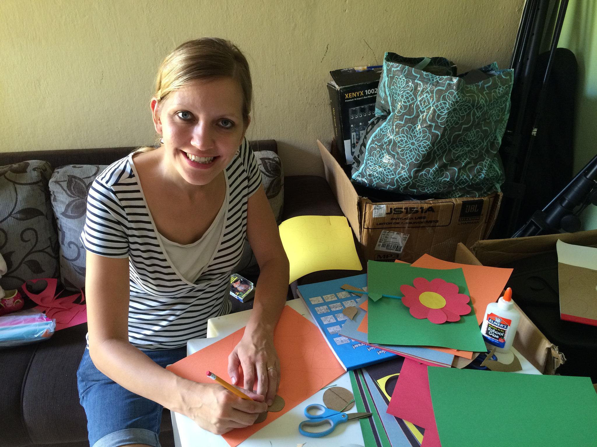 Projeto Esters: Vorbereitung Muttertags-Geschenk