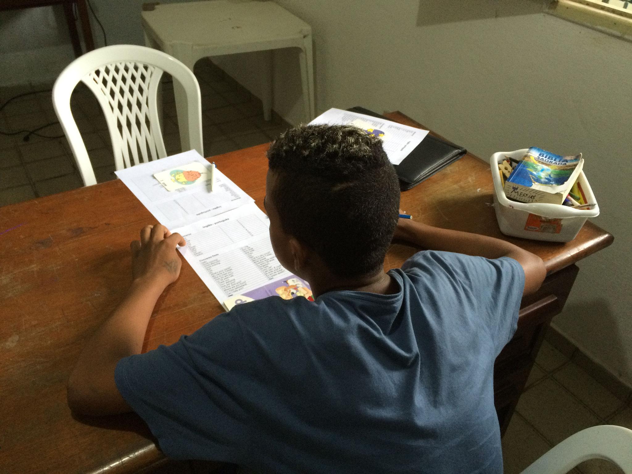Casa Esperanca: Englisch-Unterricht