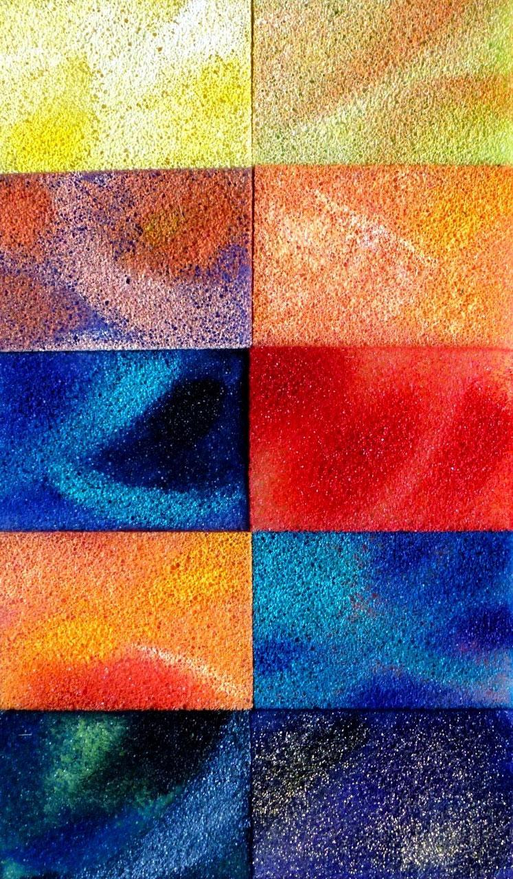 Acryl auf Sponges/ Casanirahmen, 20x30 cm, 80 €