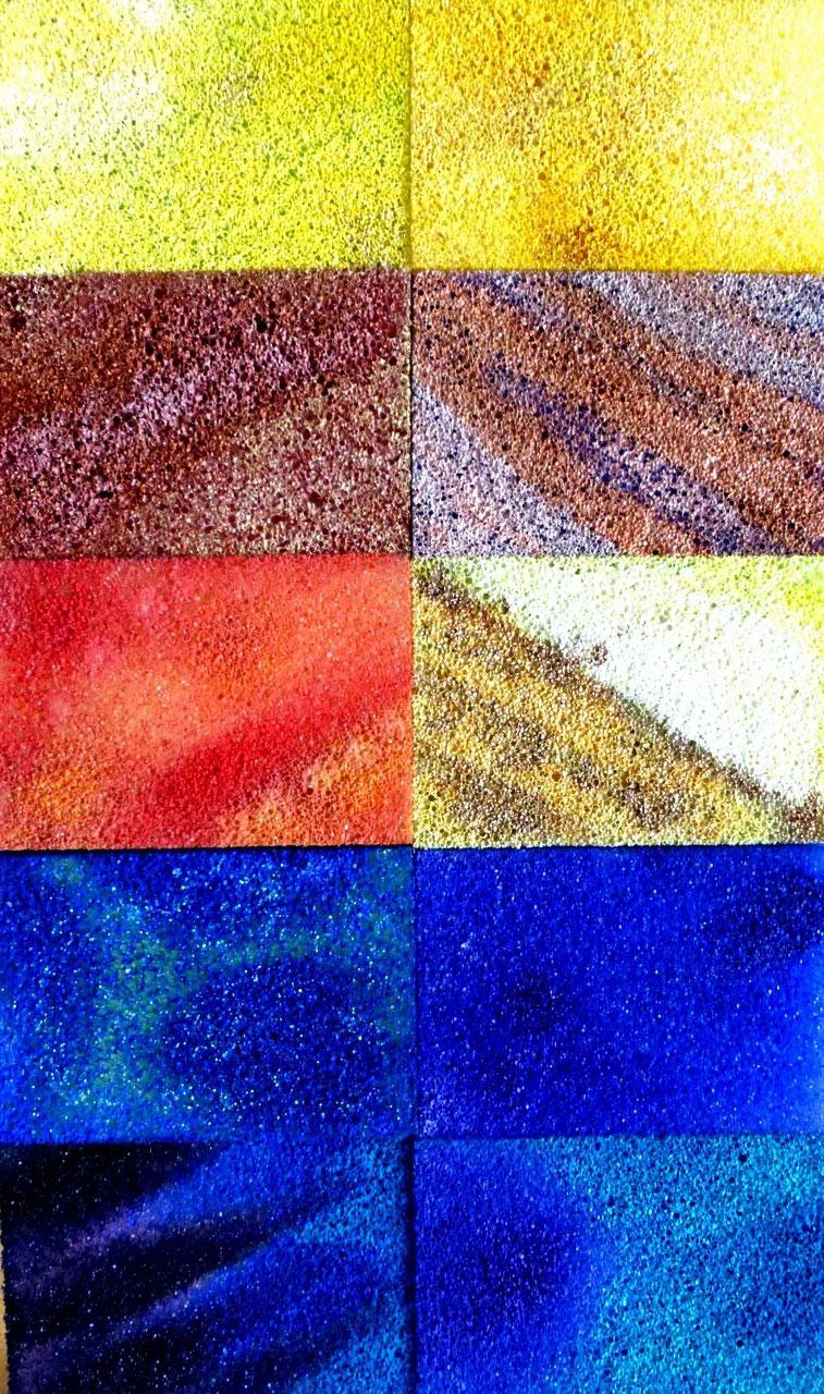 Acryl auf Sponges/ Casanirahmen, 30x20 cm, 80 €