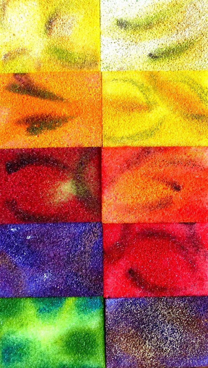 Acryl auf Sponges / Casanirahmen, 30x20 cm, 80 €