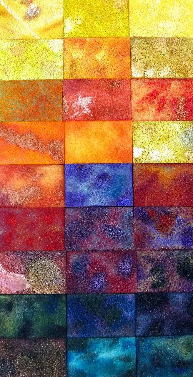 Acryl auf Sponges / Casanirahmen, 50x30 cm, 180 €
