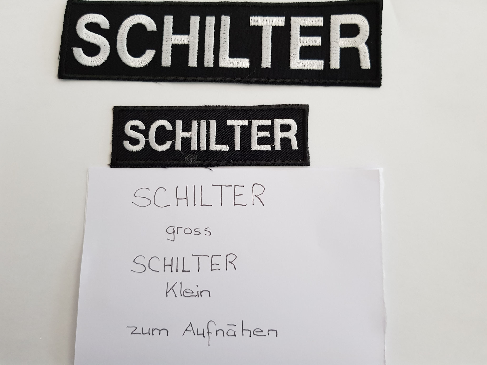 SCHILTER-Patch bestickt zum aufnähen