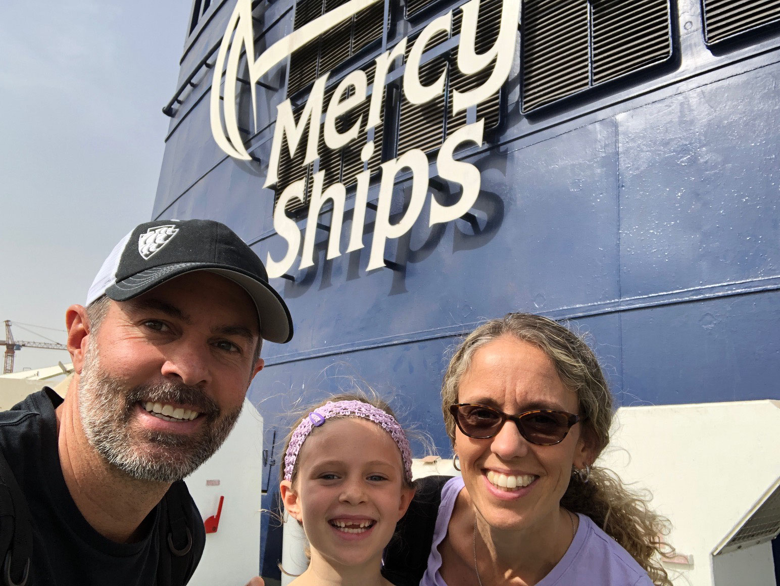 visiting the mercy ship in dakar