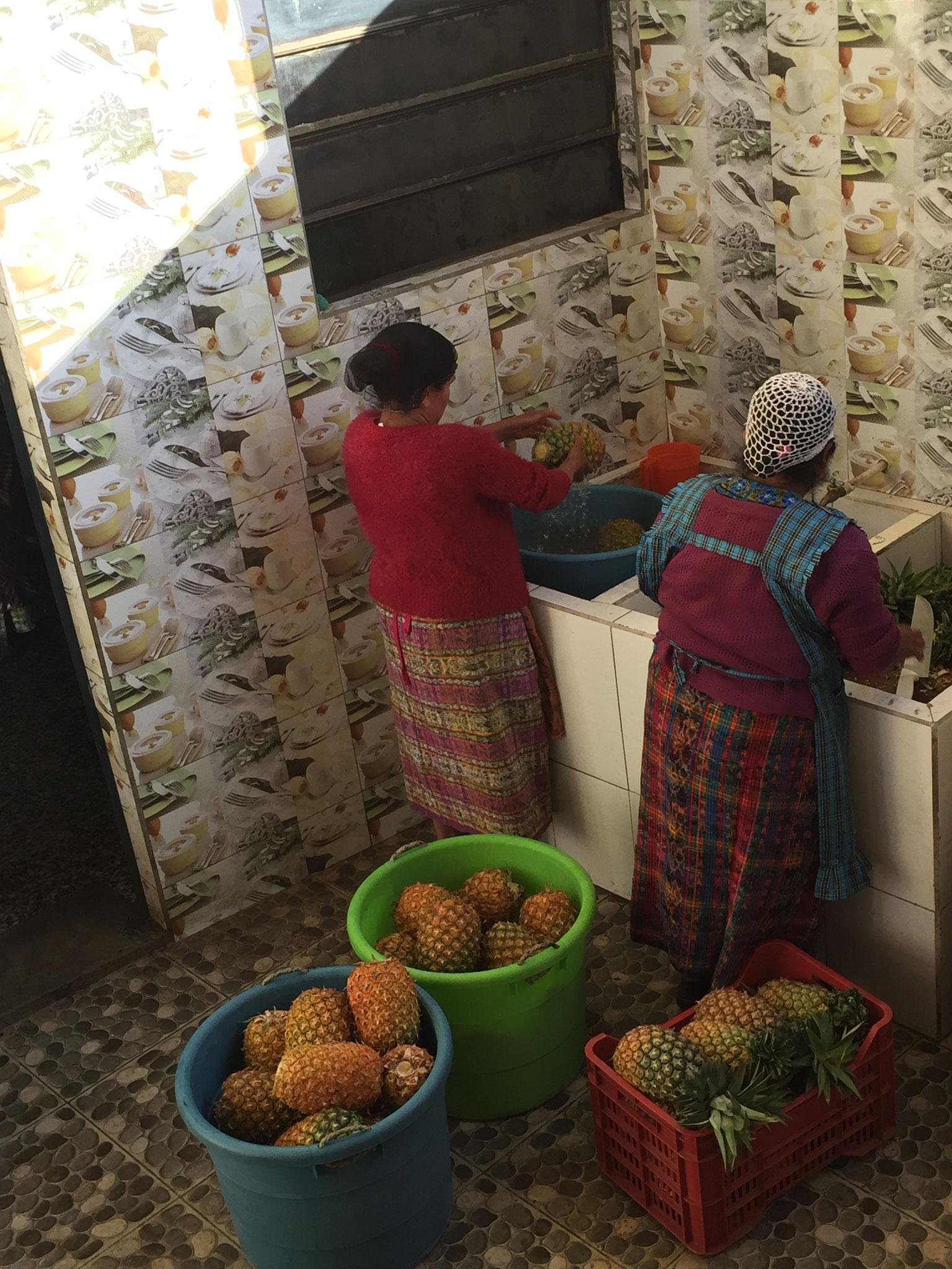 Der Speiseplan wird von der guatemaltekischen Regierung vorgegeben.