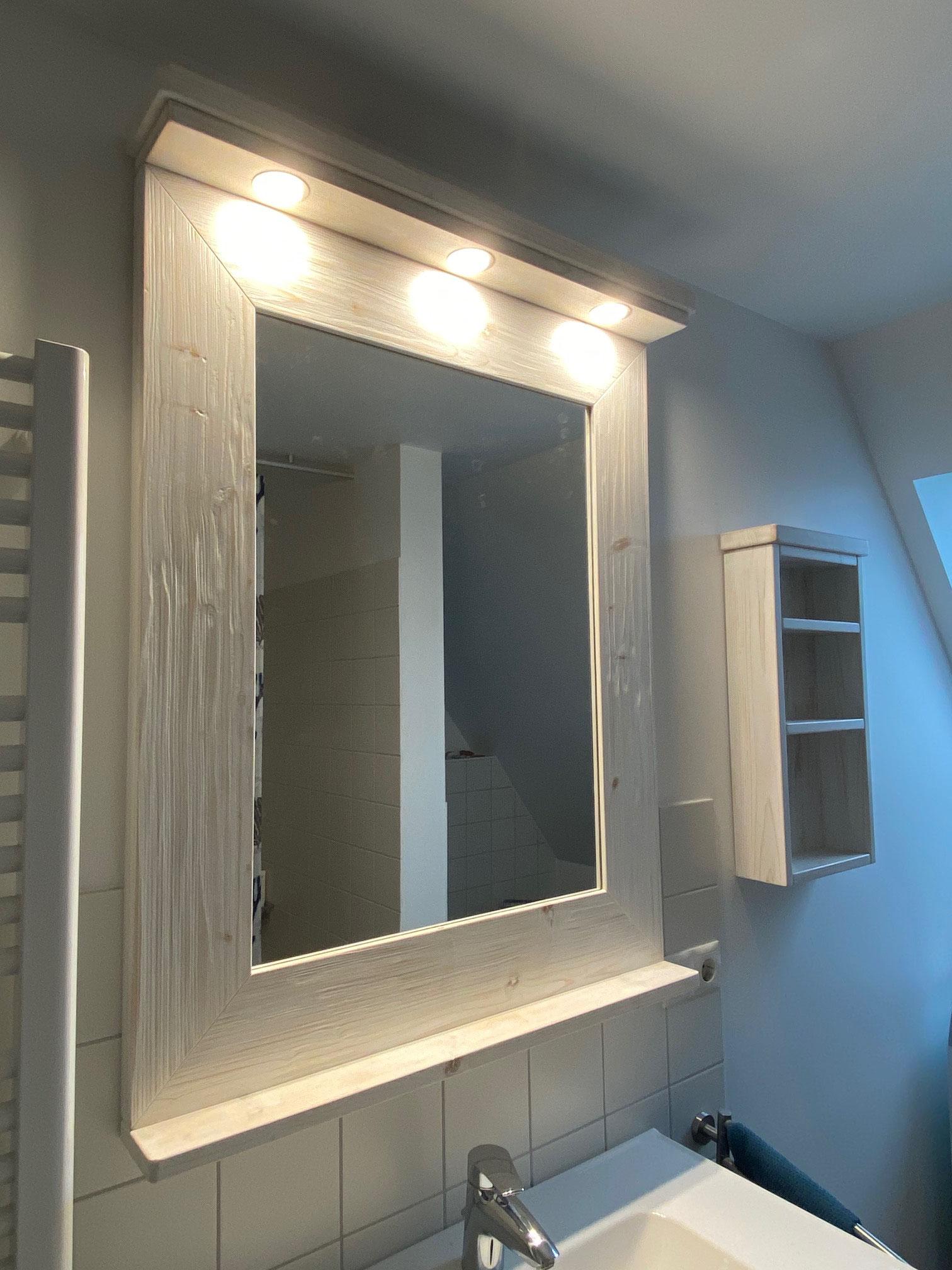 Spiegel weiß, gebürstet