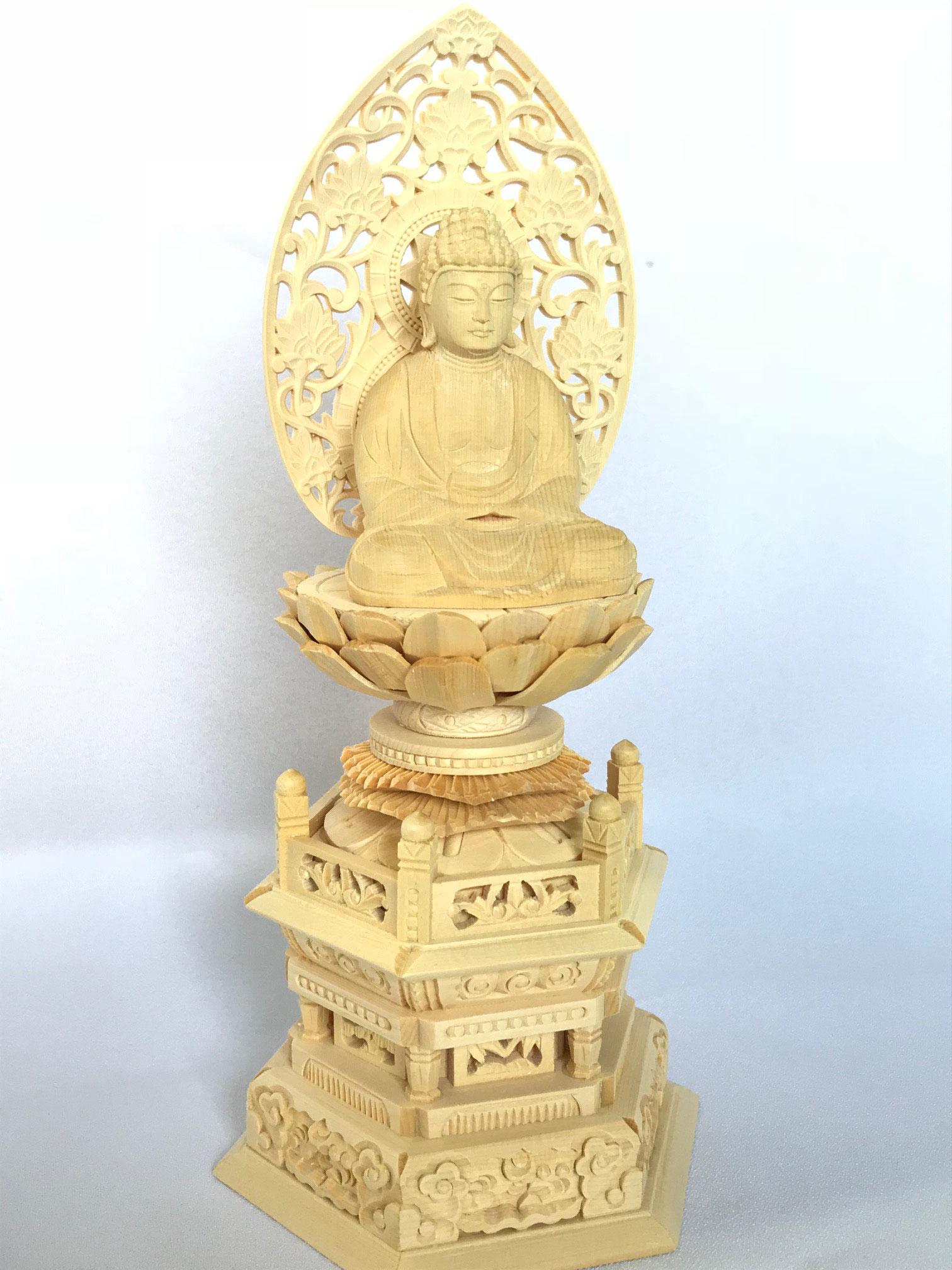 桧(ひのき) 彫り仏像