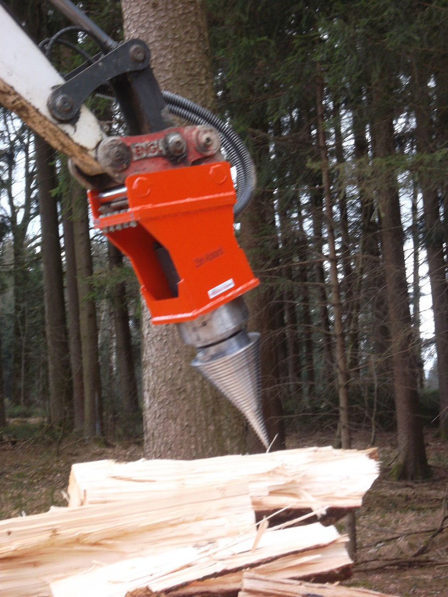 Holzspalter für Bagger 2- 5to