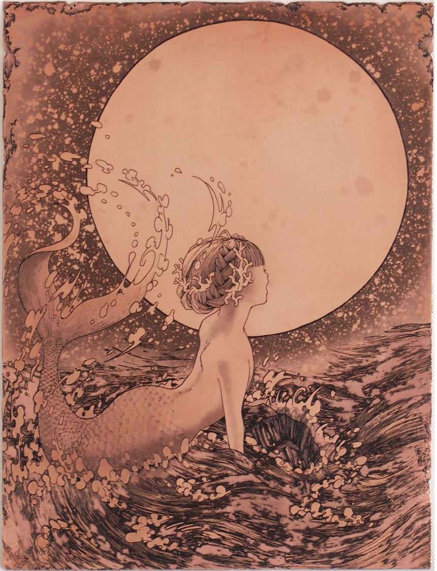 「響」  腐蝕銅レリーフ 20×15 cm 198,000円