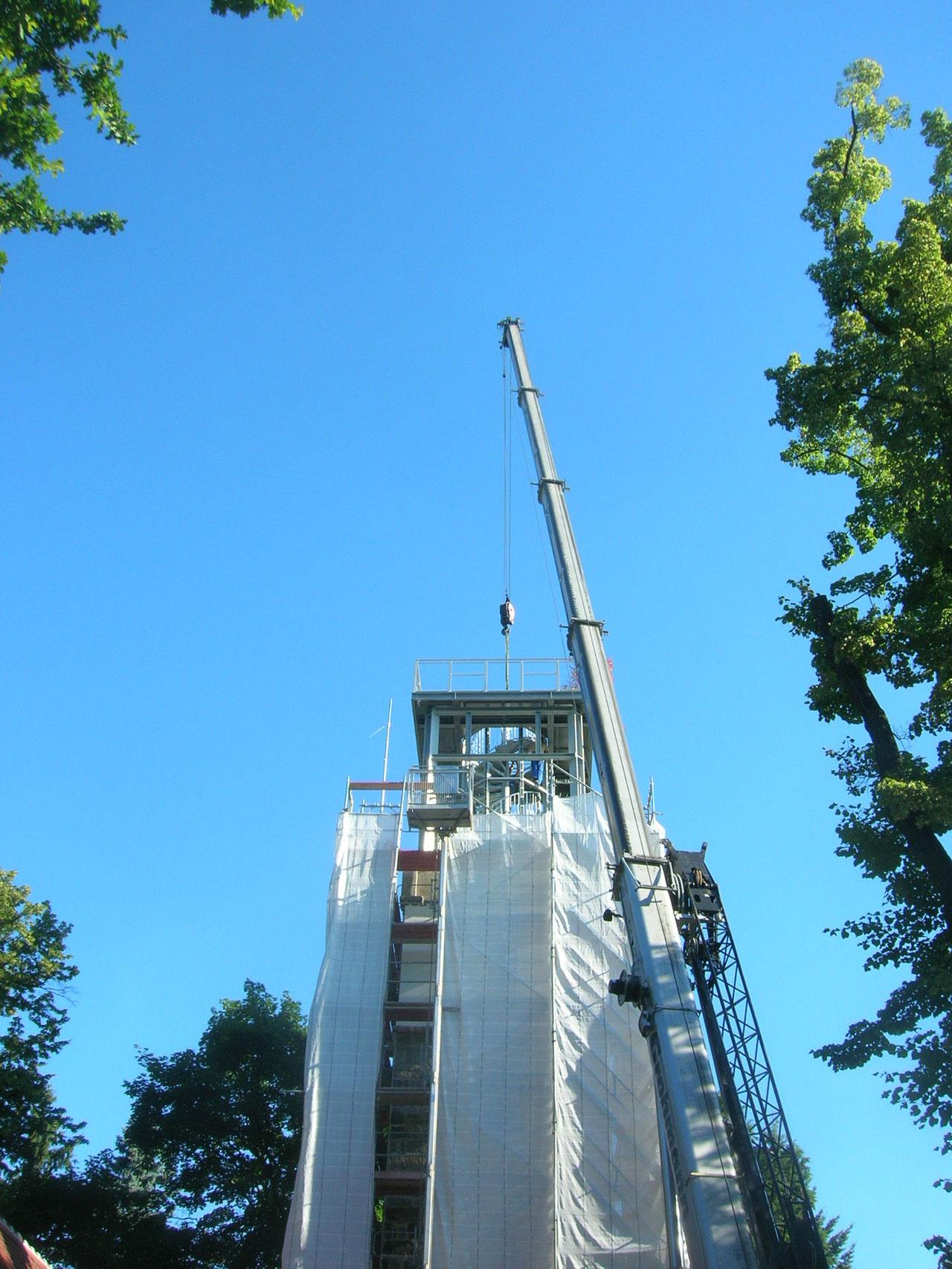 Aufstockung des Hutbergturmes, Kamenz, 2010