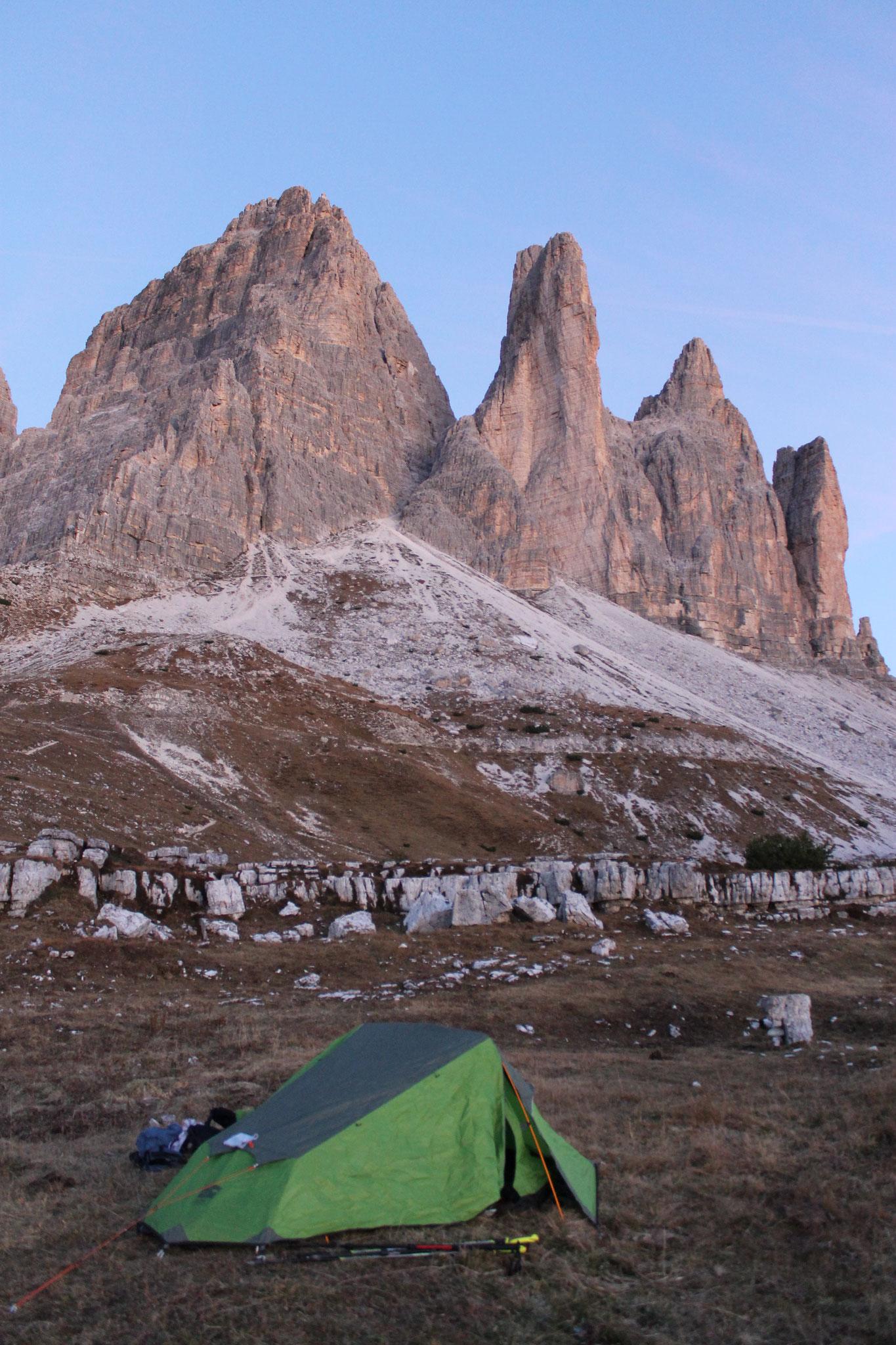 3. Reveil aux pieds de Tre Cime di Lavaredo côté Sud
