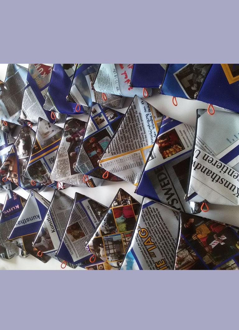 Upcycling Kulturtaschen für die Kunsthandwerker Worpswede
