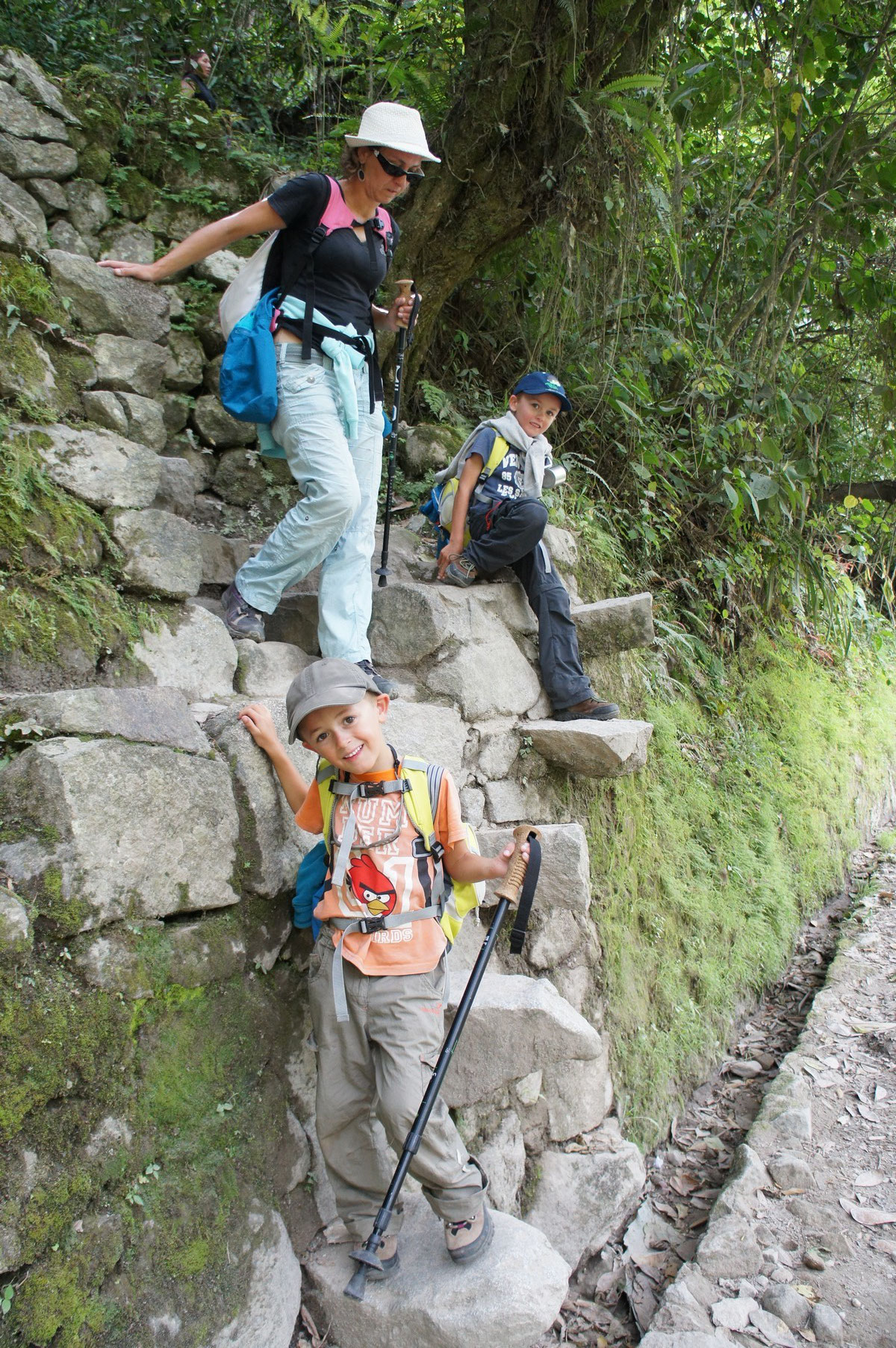 ... par les escaliers incas !