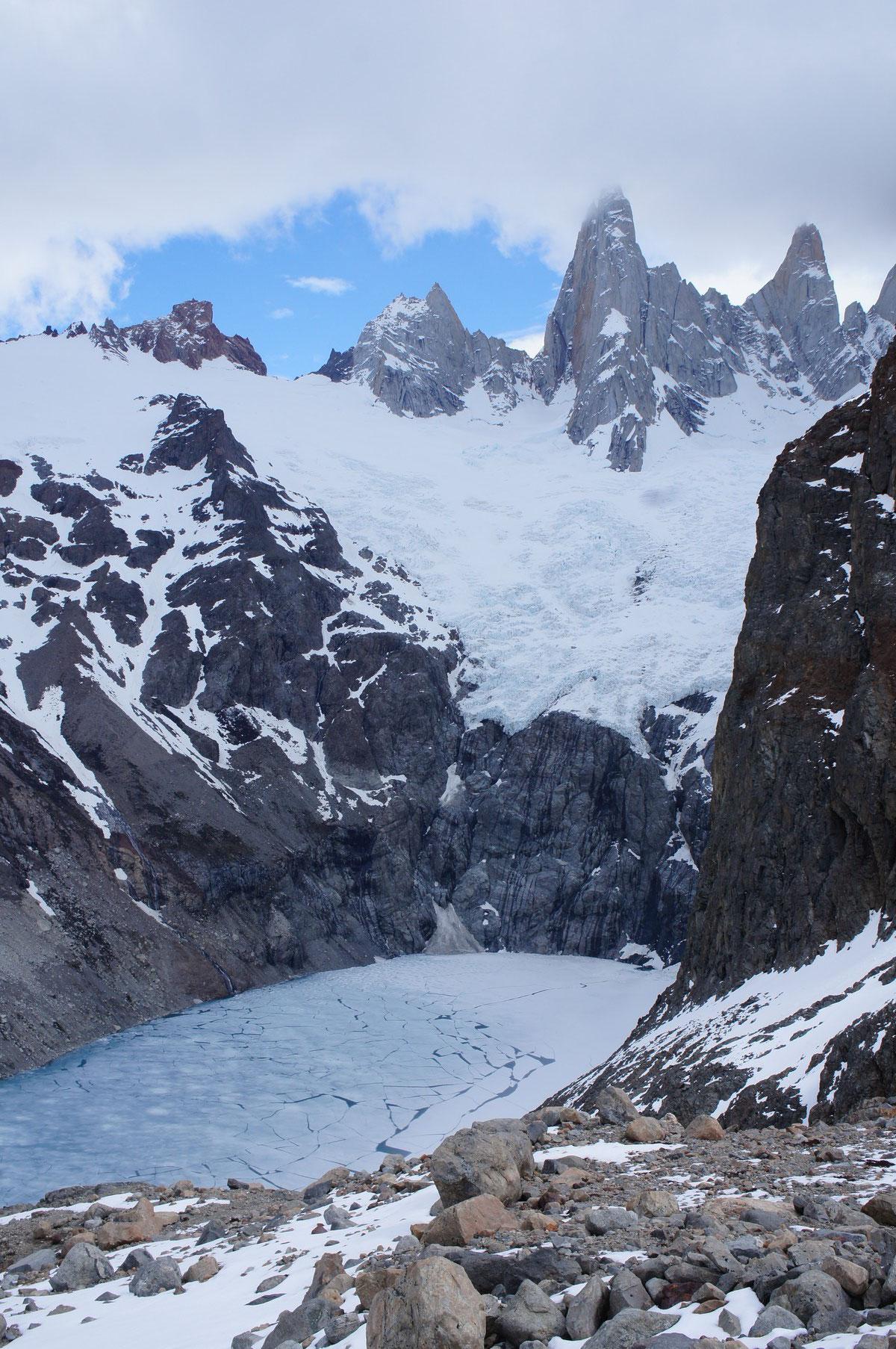Le glacier au pied du mont Fitz Roy