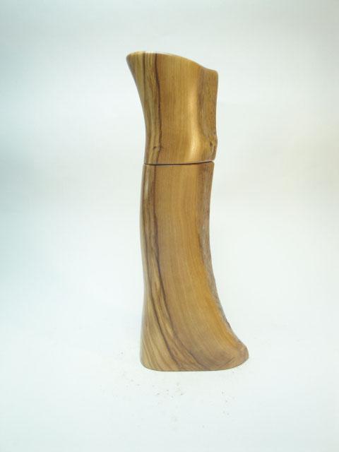 Pfeffermühle Unikat Holz Olive Design Organisch