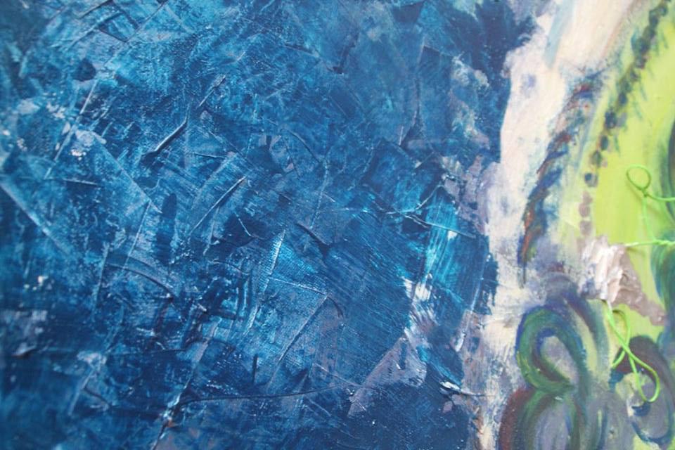 Bach, Öl auf Leinwand, 2015