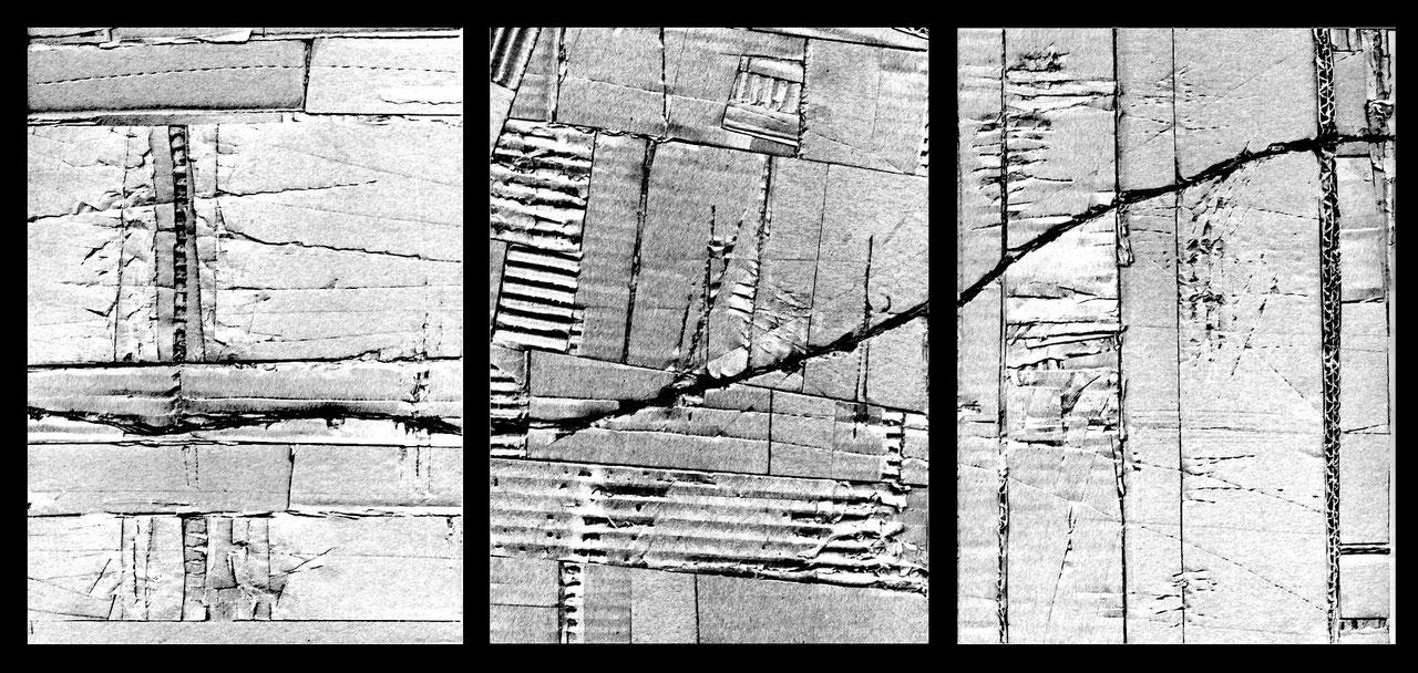 """""""urbanaurea: primo contatto - glaciazione"""" / AD012-01d / formati: originale [o] cm 63 x 30 - riproduzione ridotta [r] cm 35,5 x 19"""