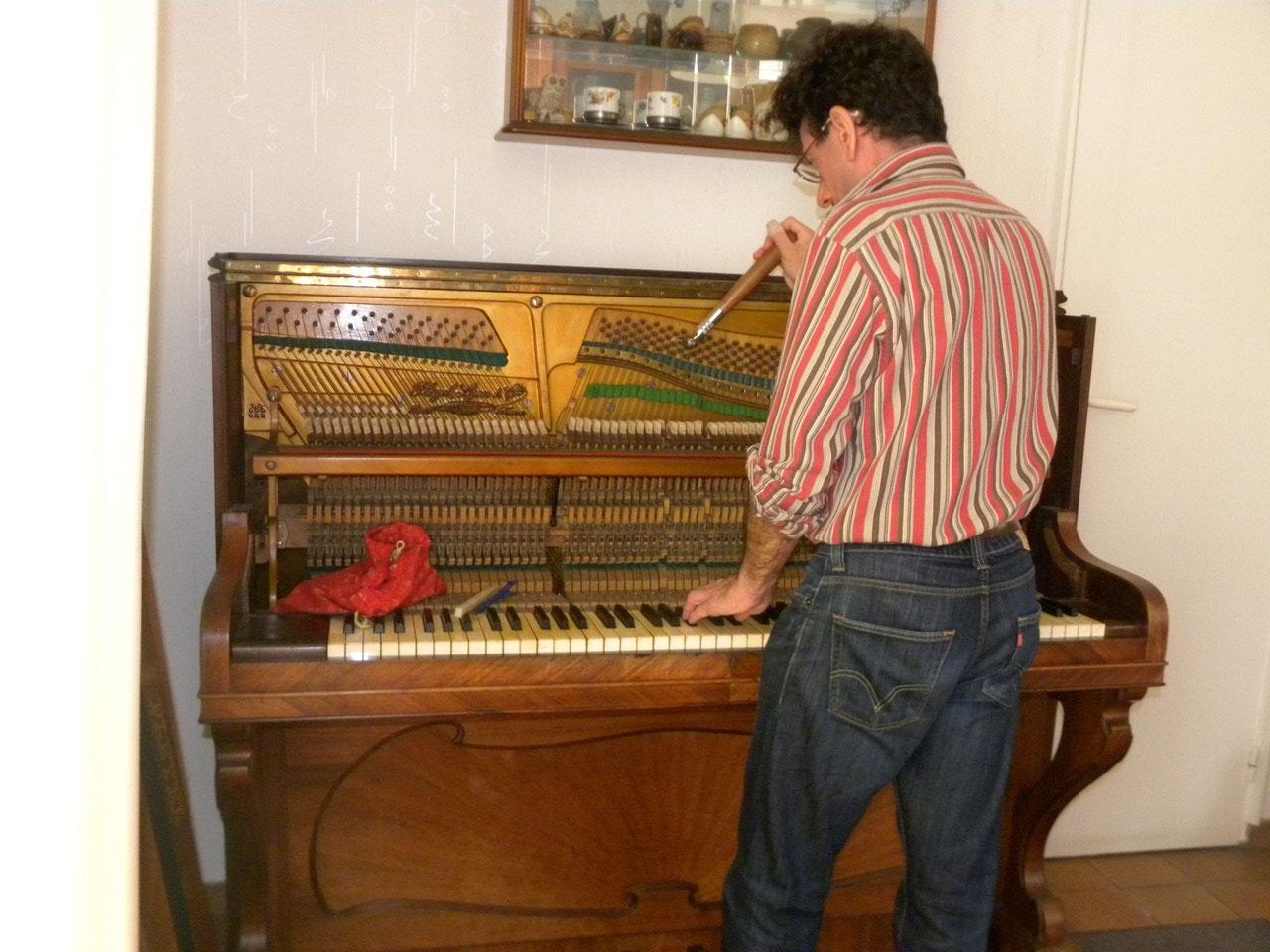 5. J'ajuste par octaves vers les aigus, jusqu'à l'extrême...