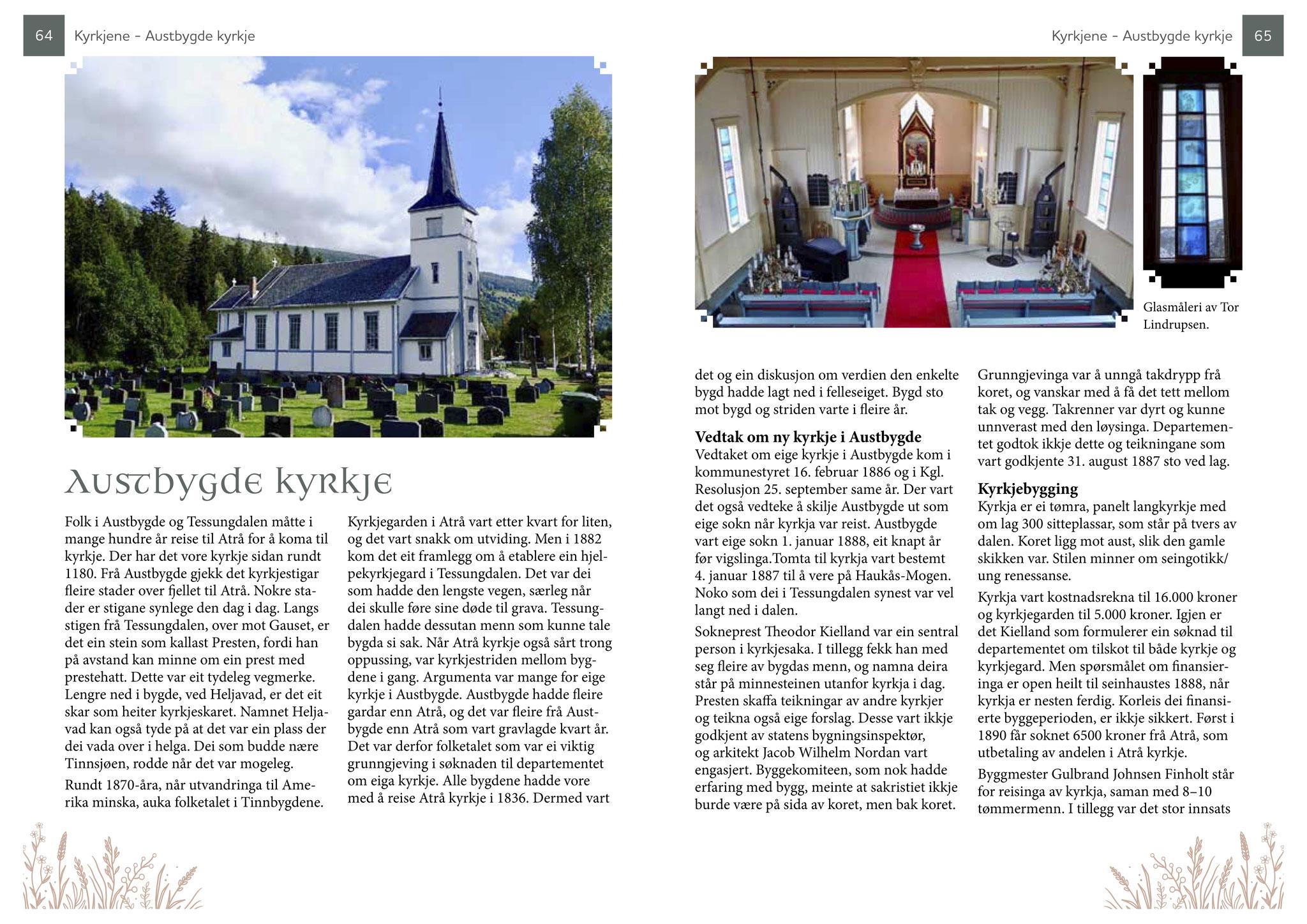 Guideboken kvitekyrkjer rundt Tinnsjøen - om Austbygde kyrkje