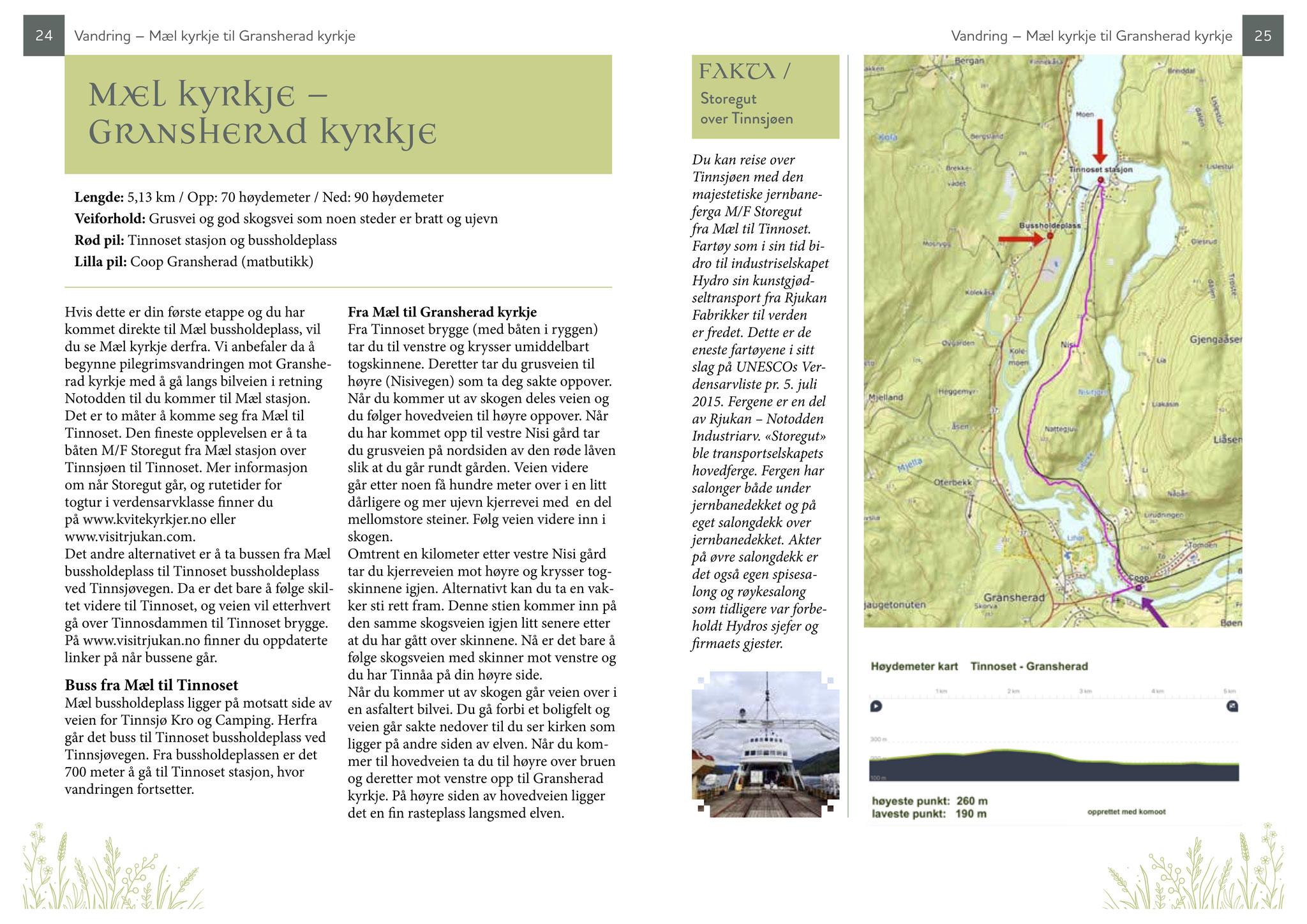 Guideboken kvitekyrkjer rundt Tinnsjøen - etappe 1