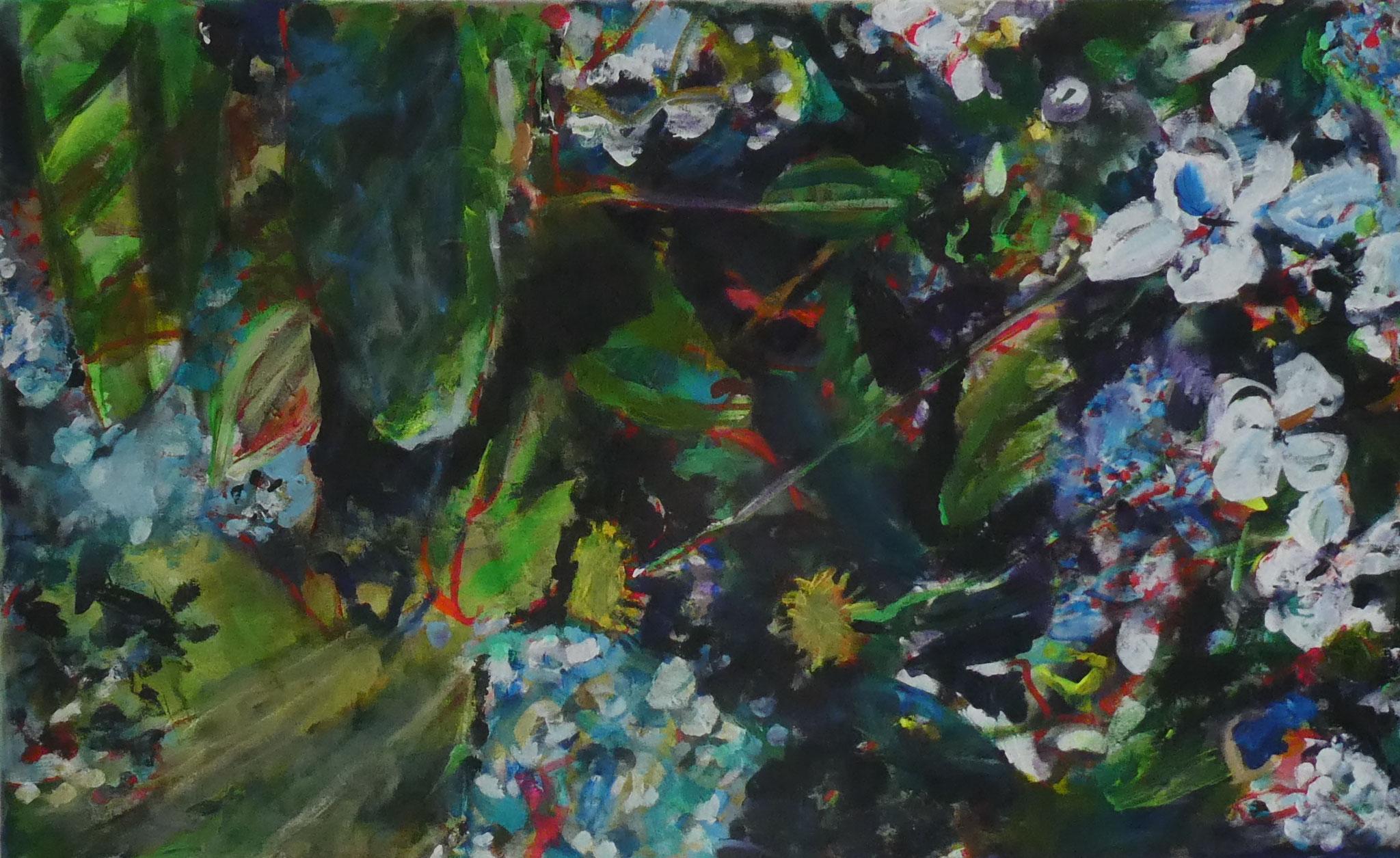 Hortensien 9,  60x100,  acrylic on canvas