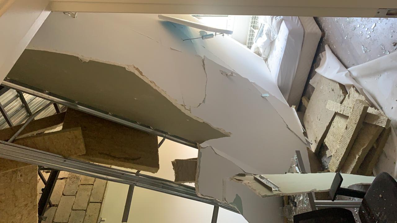 Bei der Explosionskatastrophe Anfang August zerstört - Studentenheim der Lazaristen in Achrafie