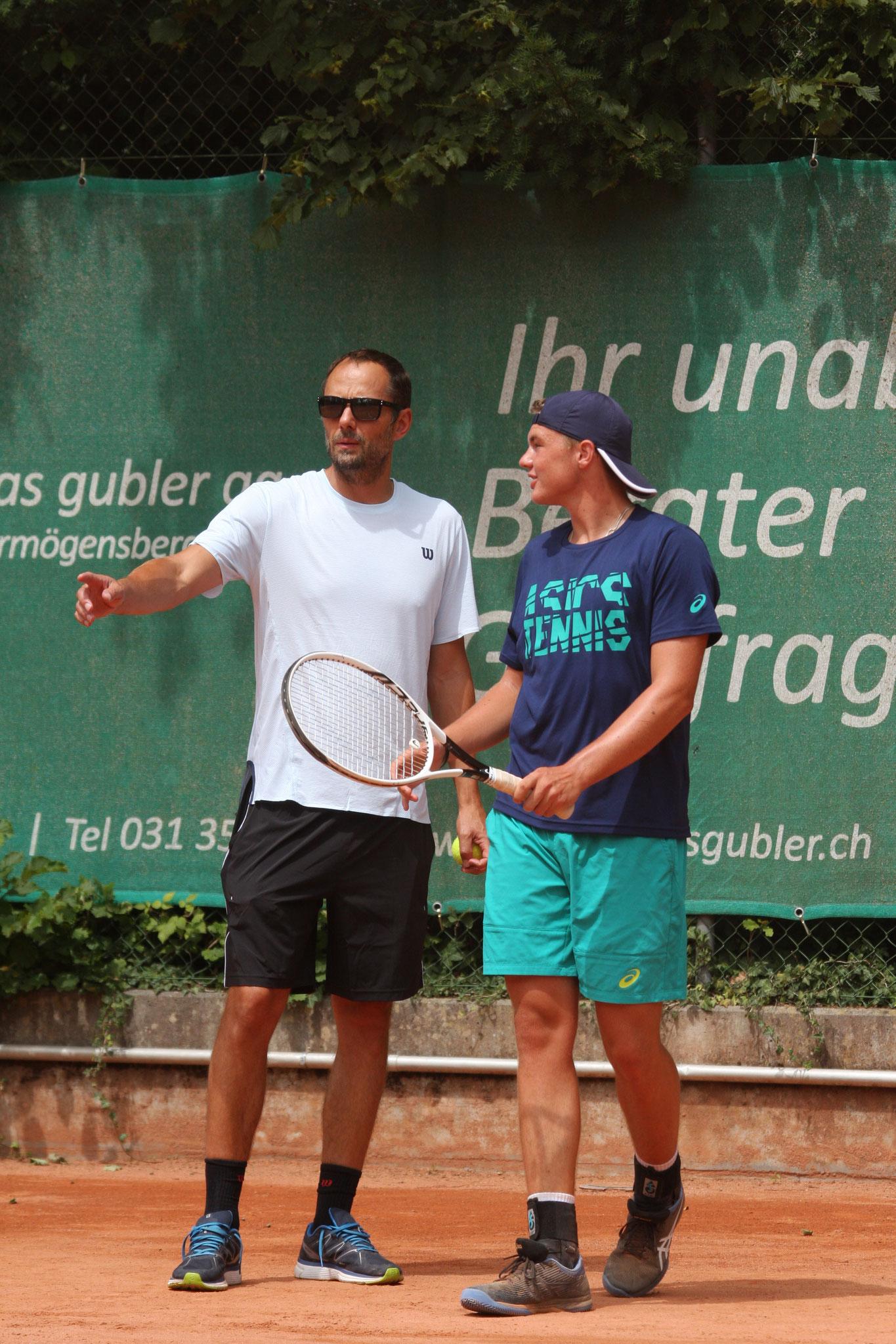 Mit meinem Trainer Sven Swinnen