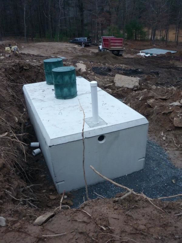 placement of the septic tank
