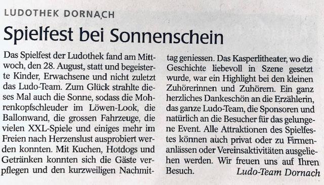 Wochenblatt vom 05.09.2019