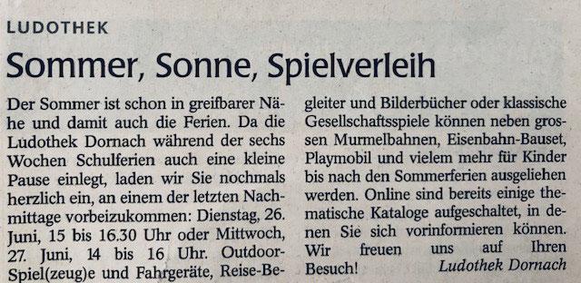 Wochenblatt vom 30.06.2019