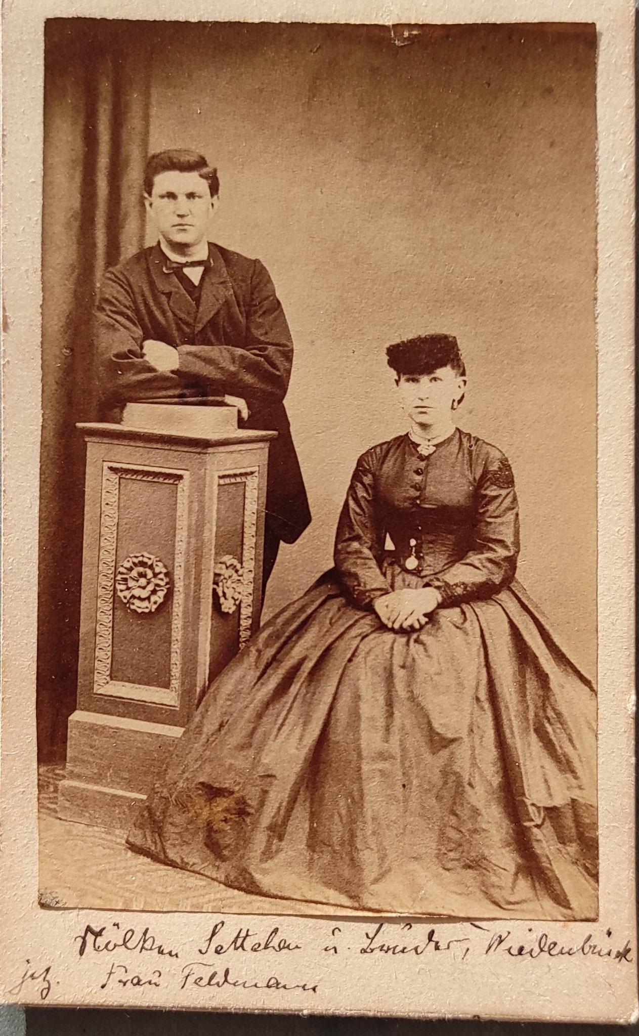 Elisabeth Nölke, geboren 06.12.1847 und Bruder