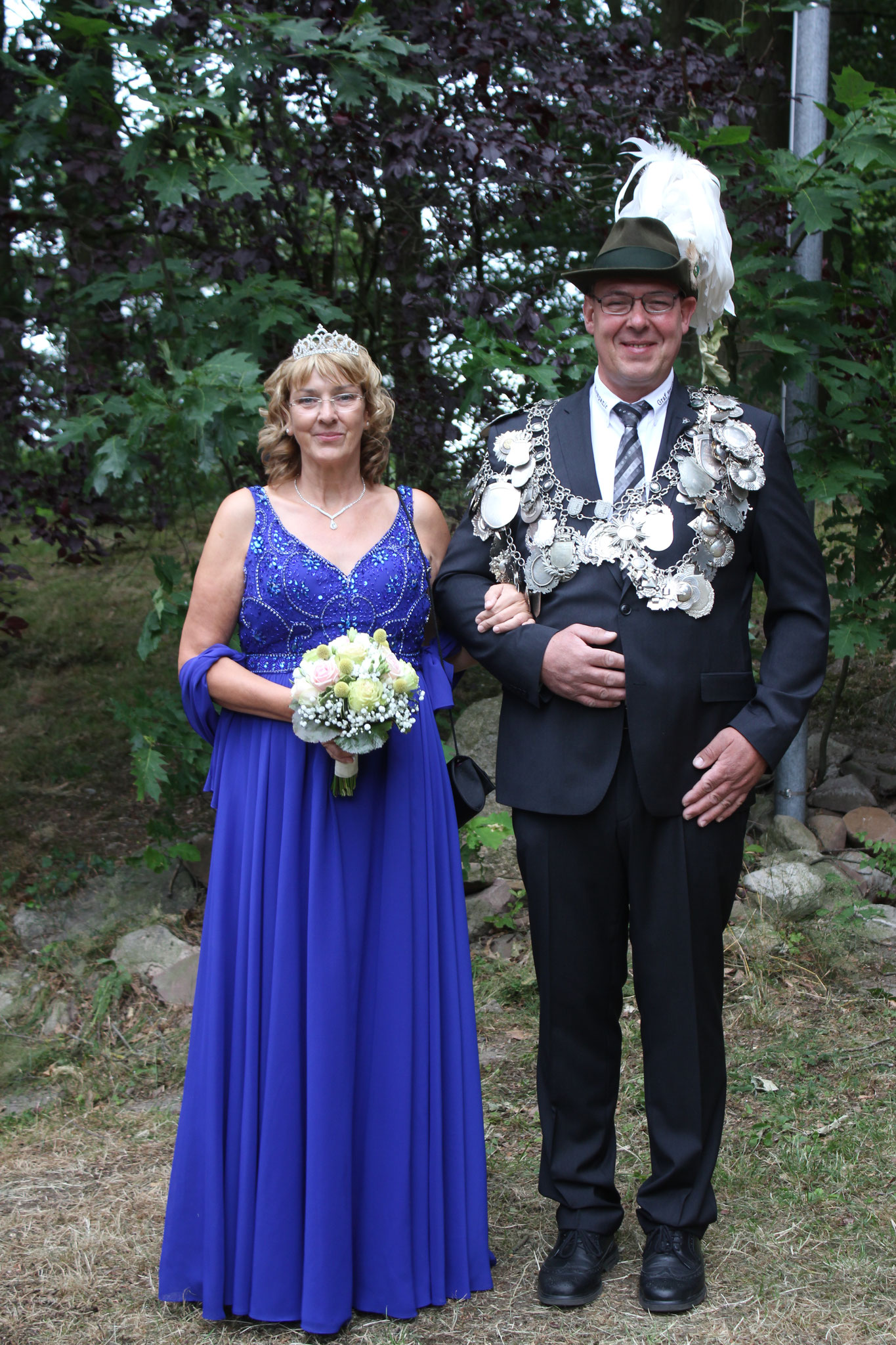König Manfred Rudolph und Sabine Bavendiek im Jahr 2019