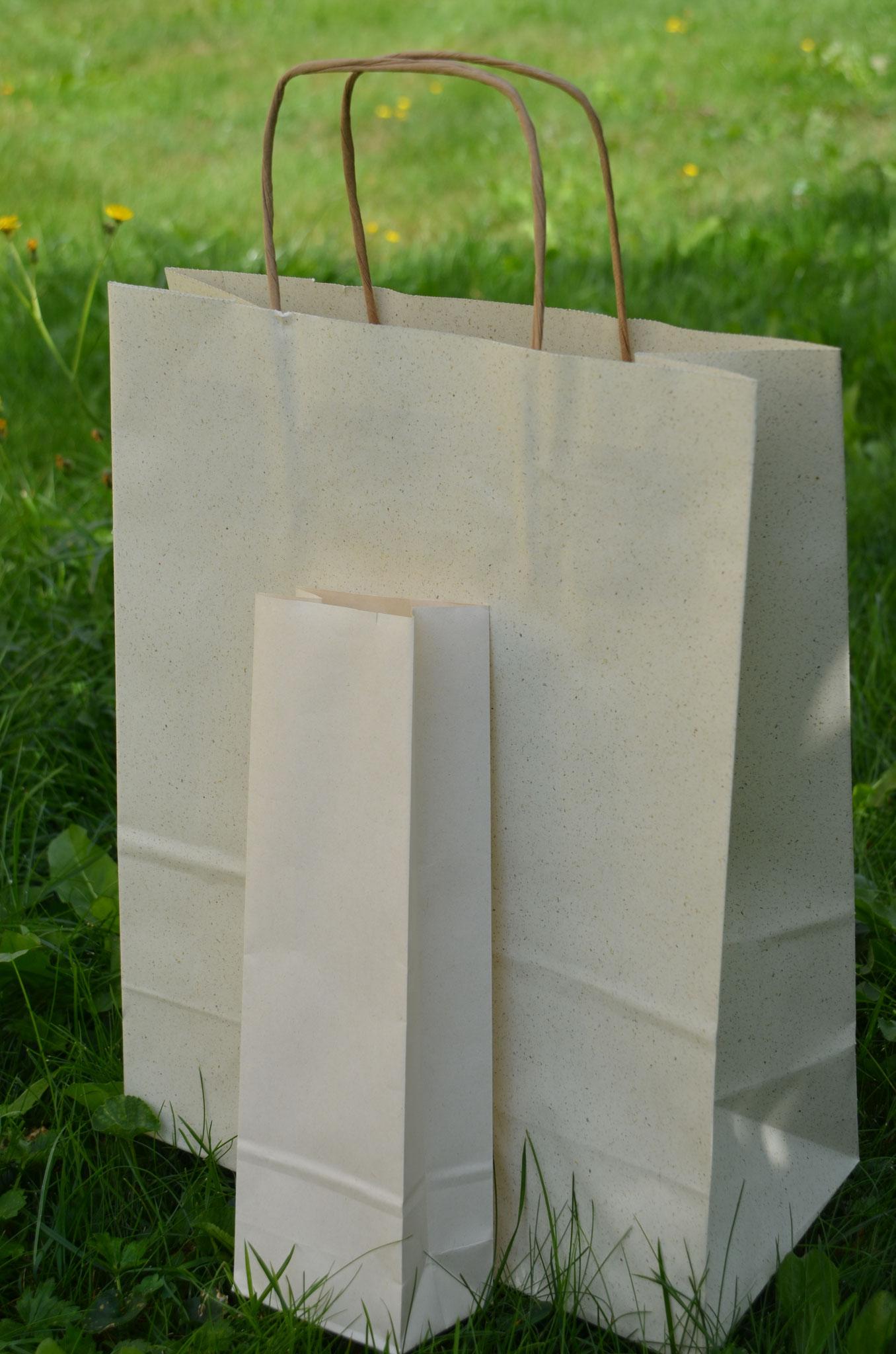 """Unsere plastikfreien, nachhaltigen und """"baumfreien"""" Tüten"""