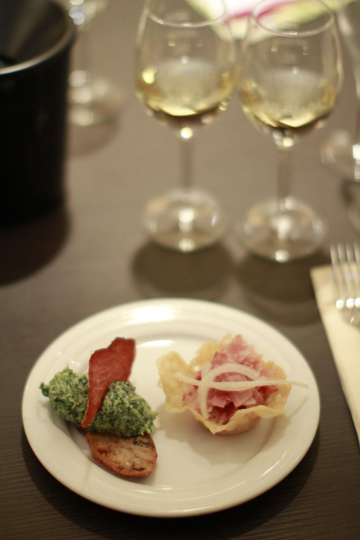Feldsalatmousse mit Speck - Ochsenmaulsalat