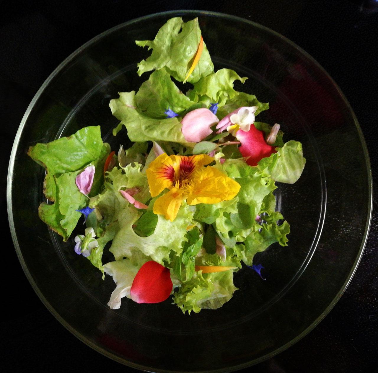 Blütensalat aus Pias Bioladen