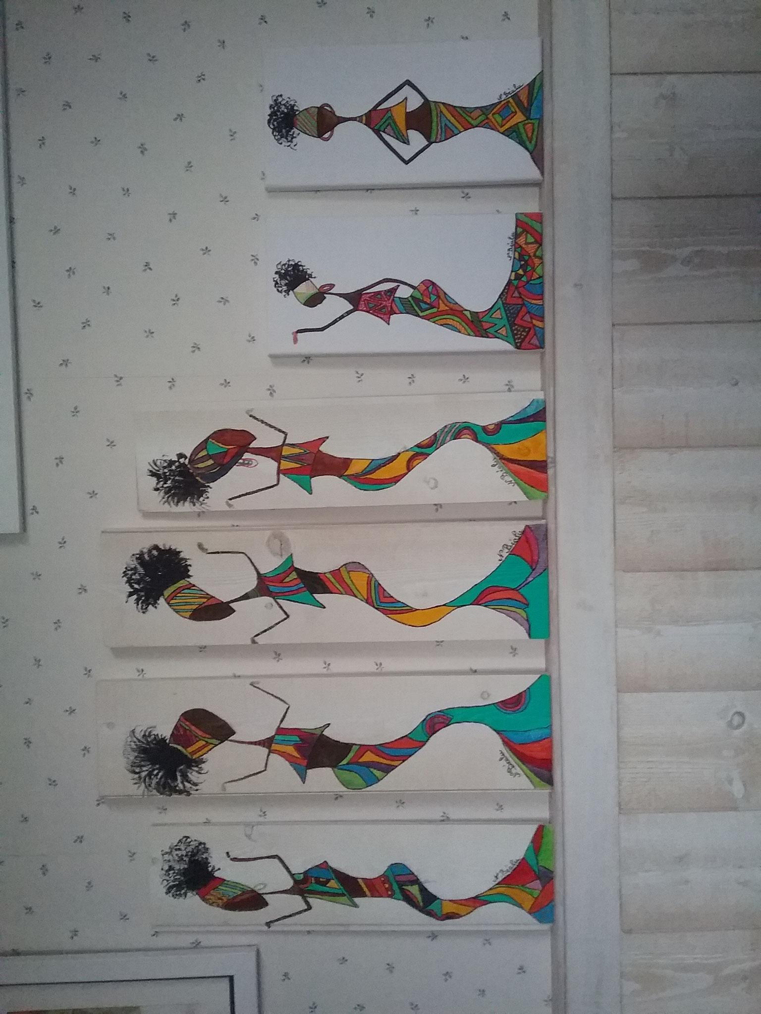 et Nadine du 47, très créative aussi, nous présente ses belles silhouettes en peinture, je crois...
